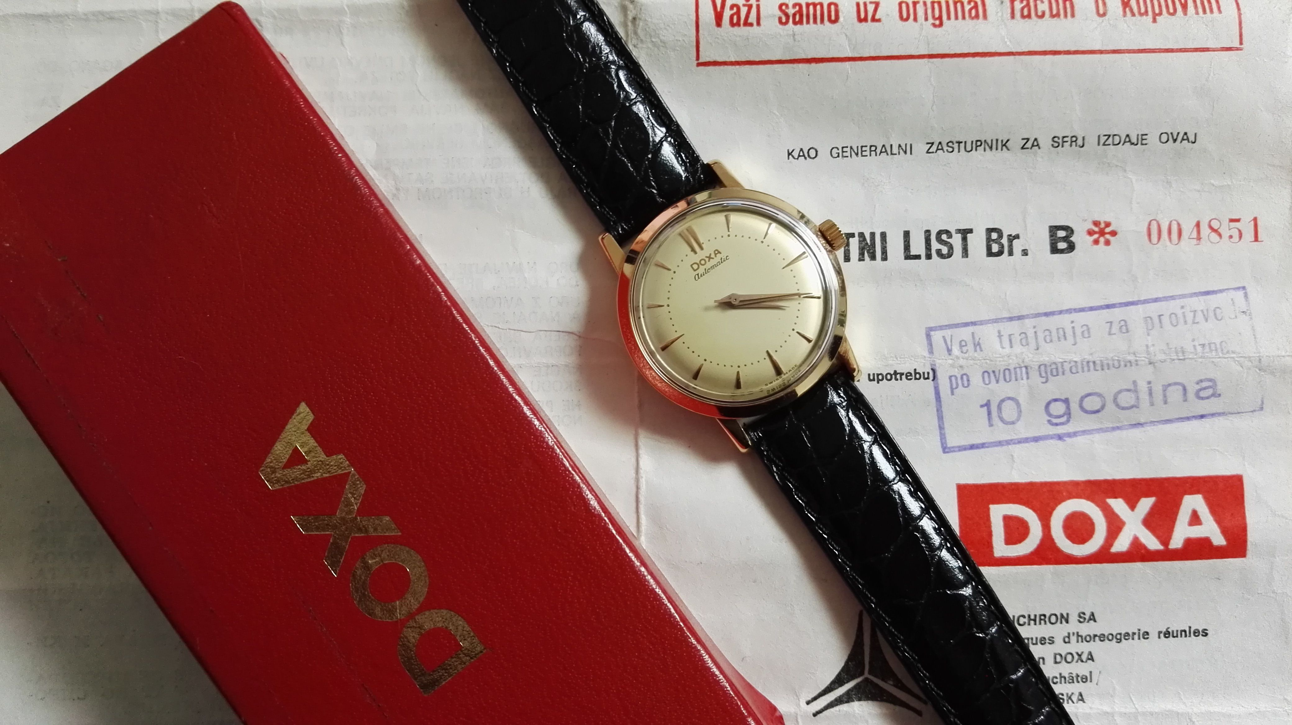 Doxa red gold 18 kt mm 34 autmatic movement fullset 78' very nice | San Giorgio a Cremano