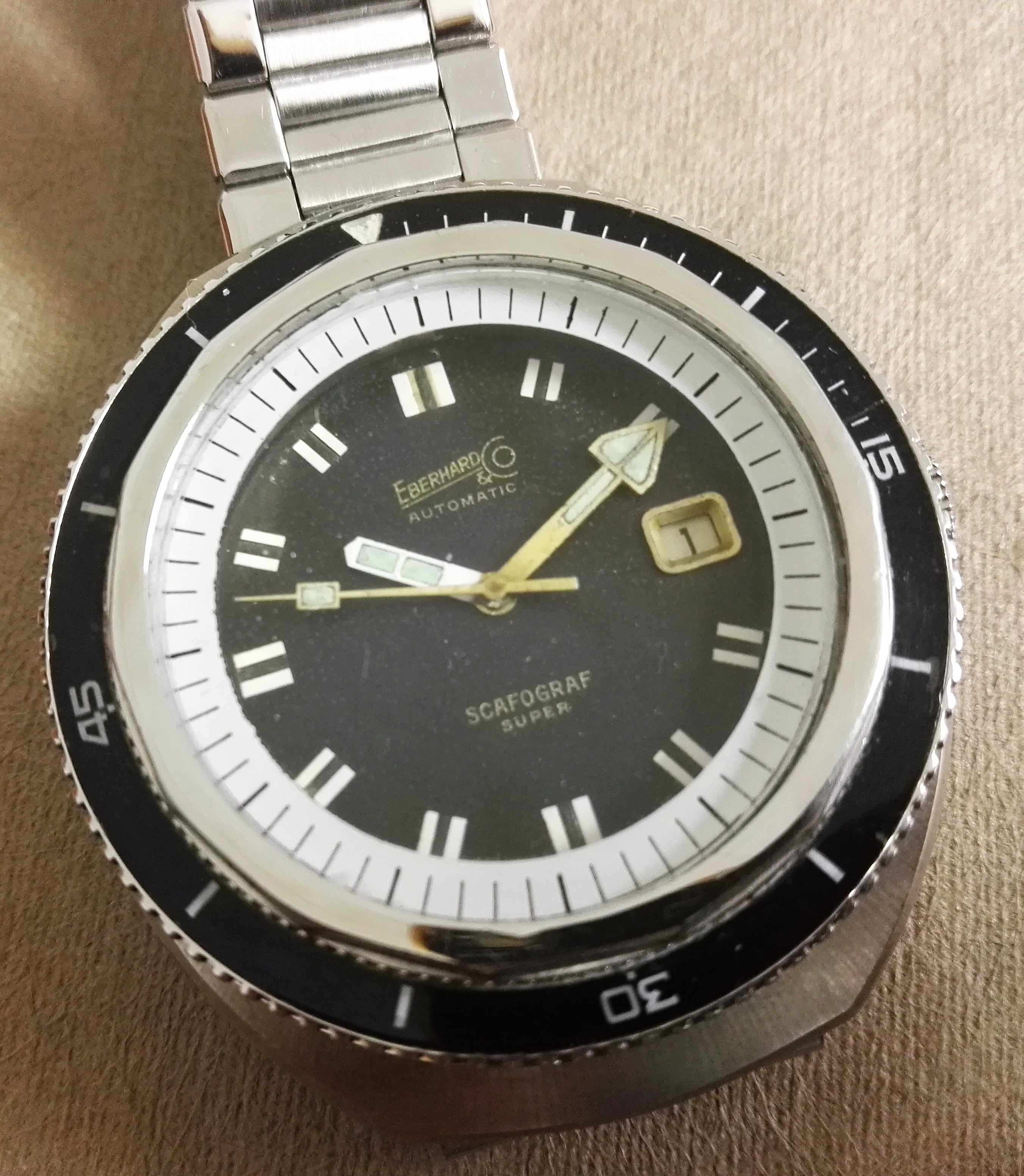 Eberhard & Co. Scafo scafograf 500 super rare gilt dial top condition | San Giorgio a Cremano