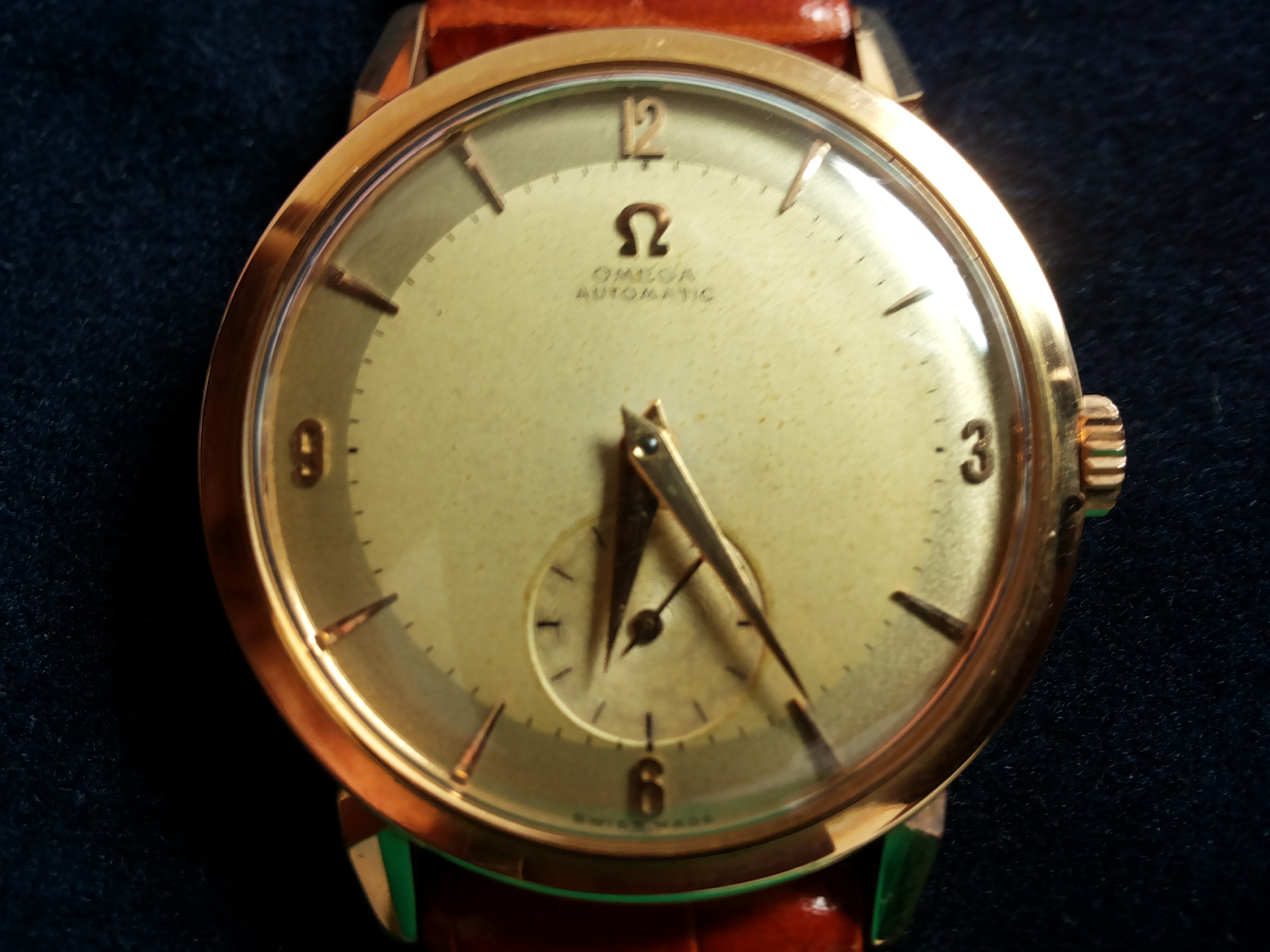 Omega automatic 18 kt rosegold two-tone dial spider loops rare | San Giorgio a Cremano