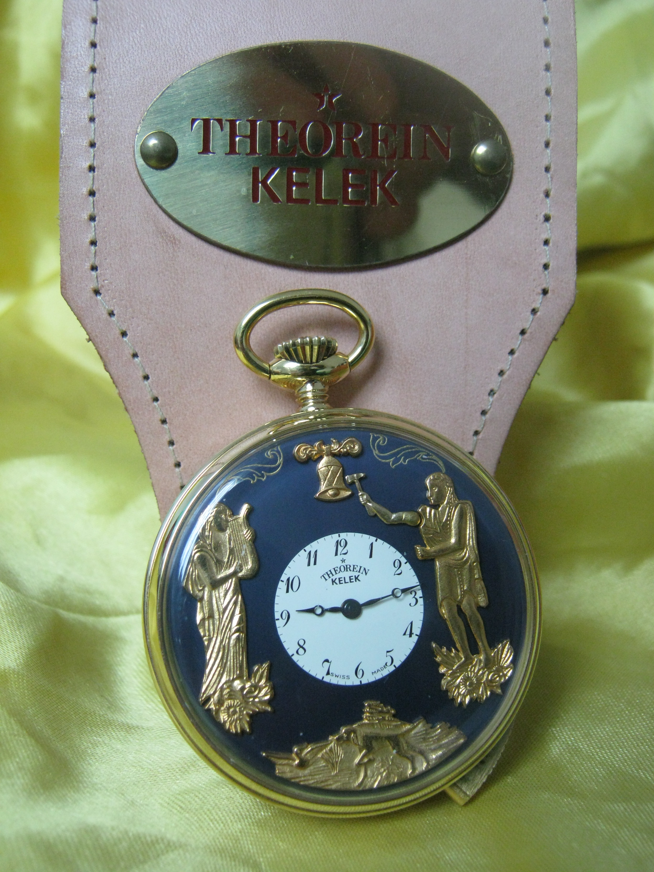 Theorein pocket watch Ripetition Hours and 5 Minutes gold plated nos | San Giorgio a Cremano