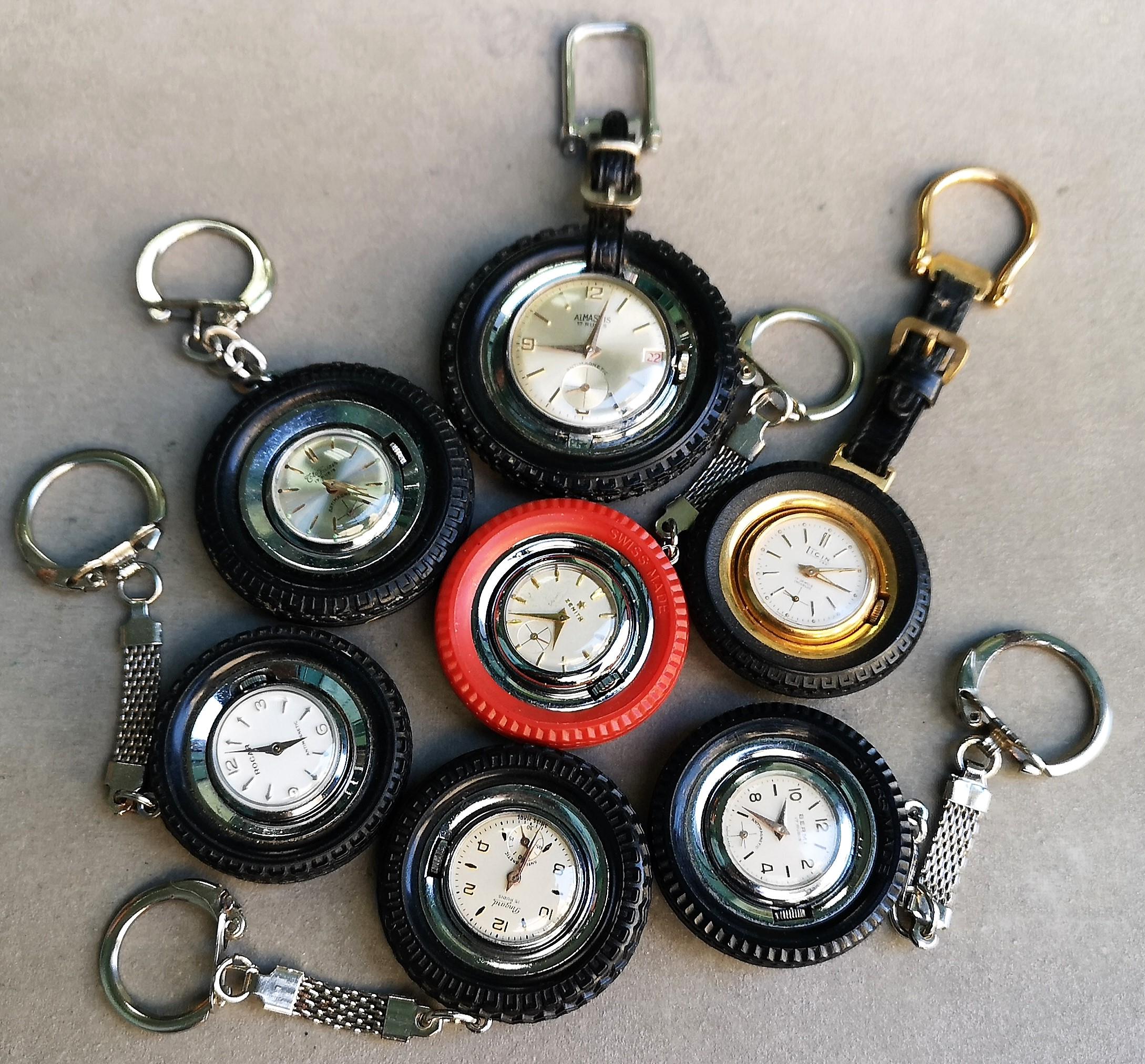 Anonimo Zenith Ticin Almasius Pingard Bermi Faiser Rocar keychain wheel watch collection N. 7 pcs | San Giorgio a Cremano