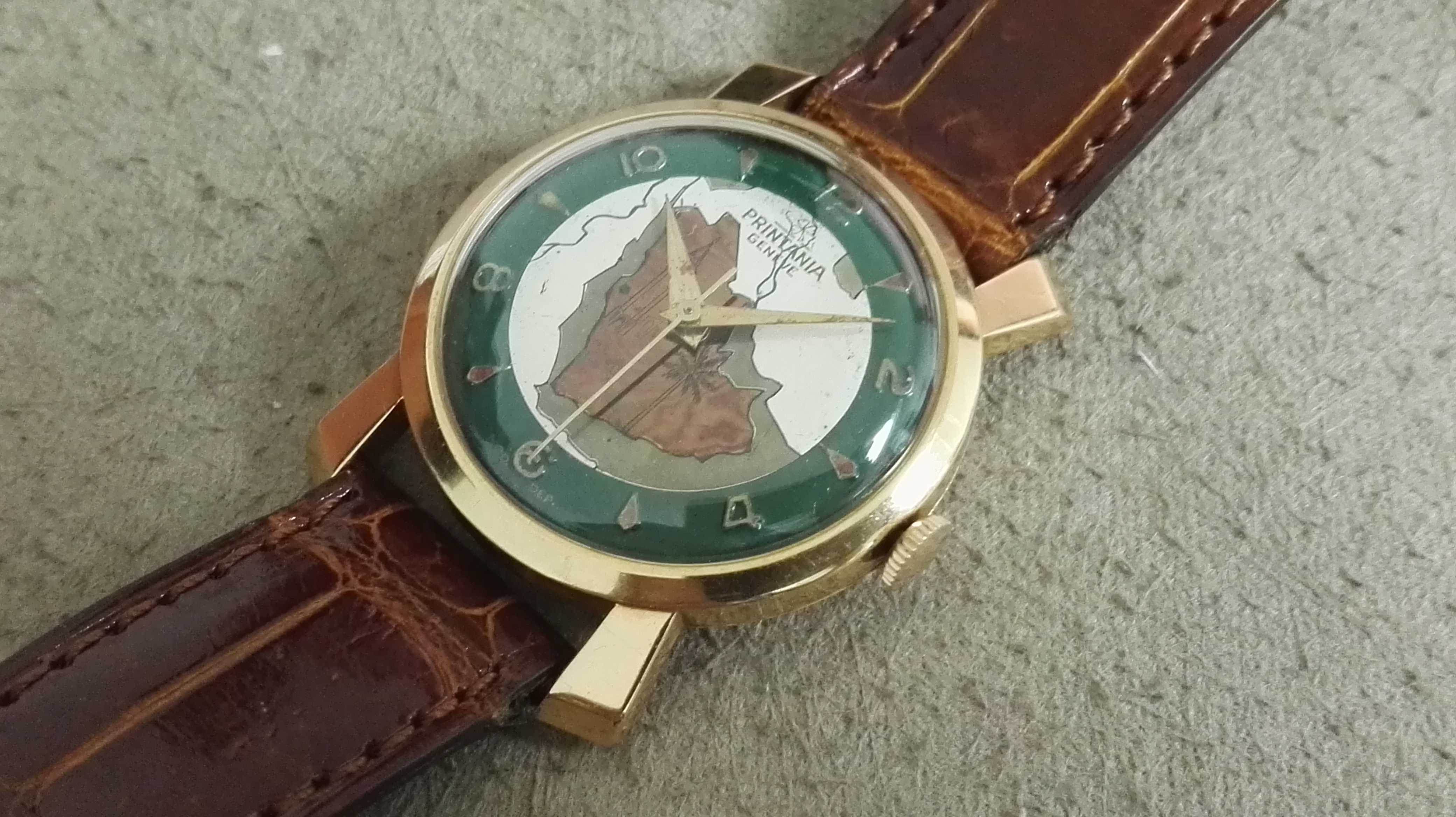 Anonimo Printania Rare Swiss wrist watch enamel dial 18 kt rose gold mm 30 | San Giorgio a Cremano