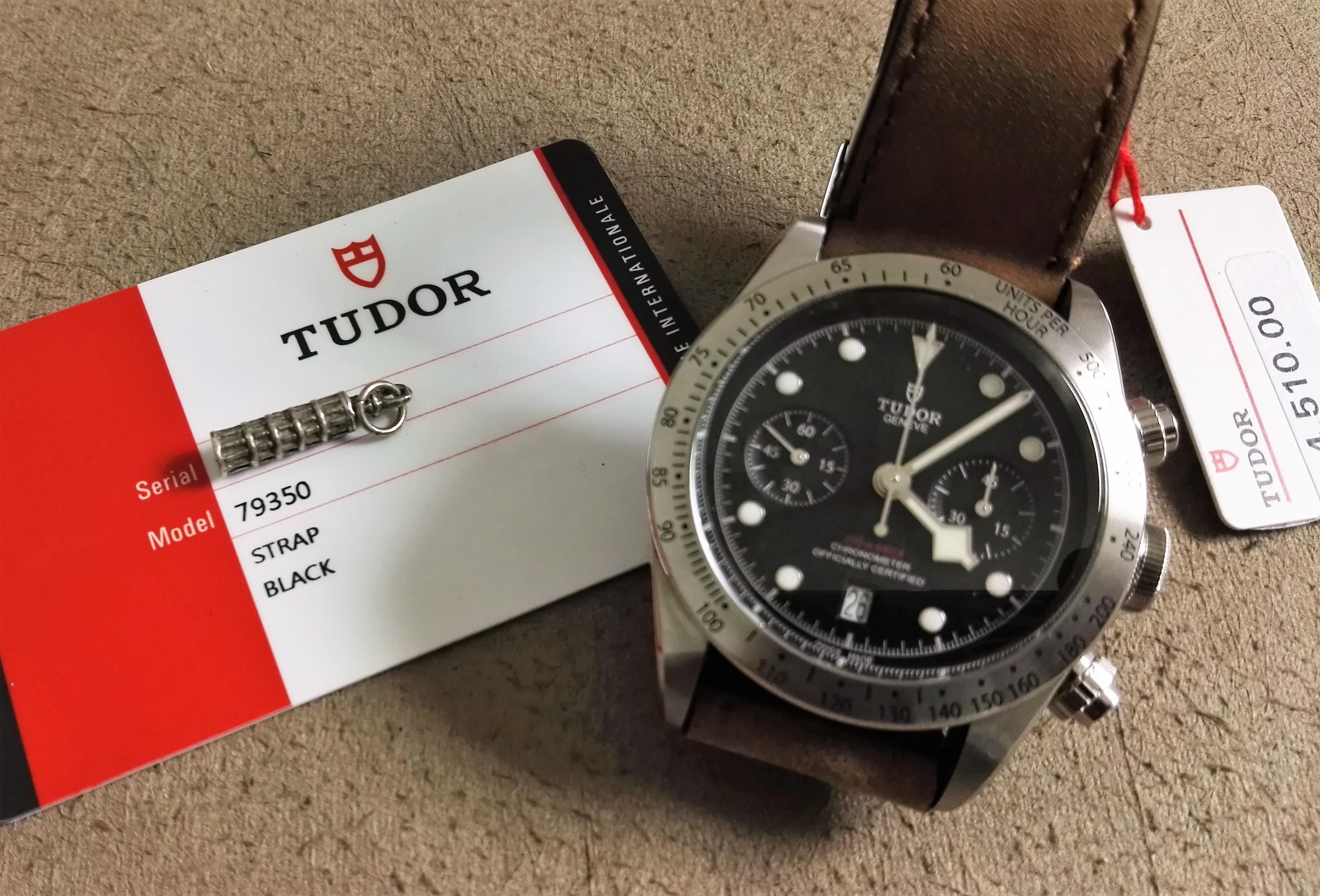 Tudor Heritage Black Bay Black Bay Chrono 79350 New 2019 box and warranty card | San Giorgio a Cremano