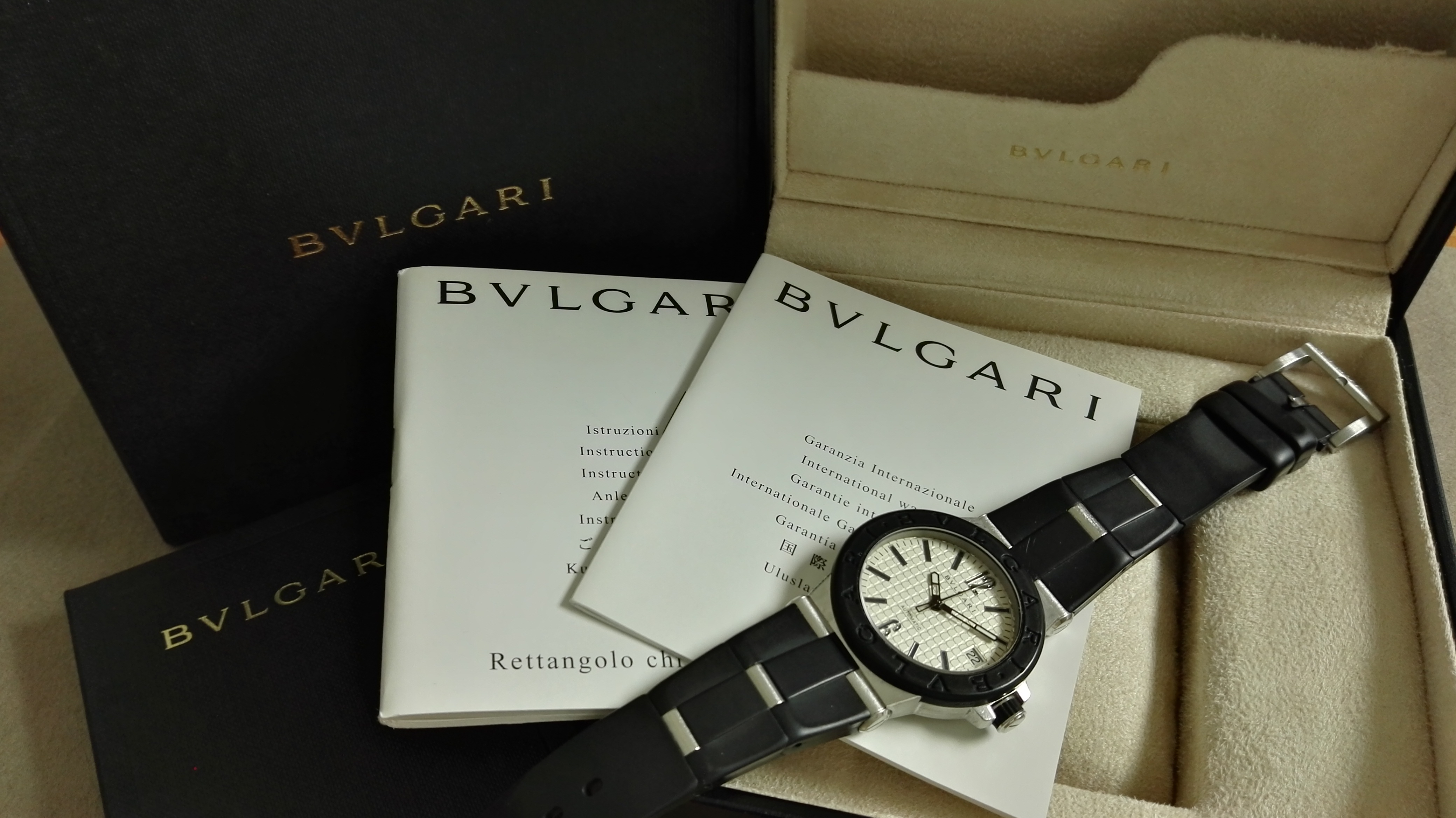 Bulgari Diagono Diagono DG 35 SV STAINLESS STEEL AUTOMATIC DATE UNISEX WATCH | San Giorgio a Cremano
