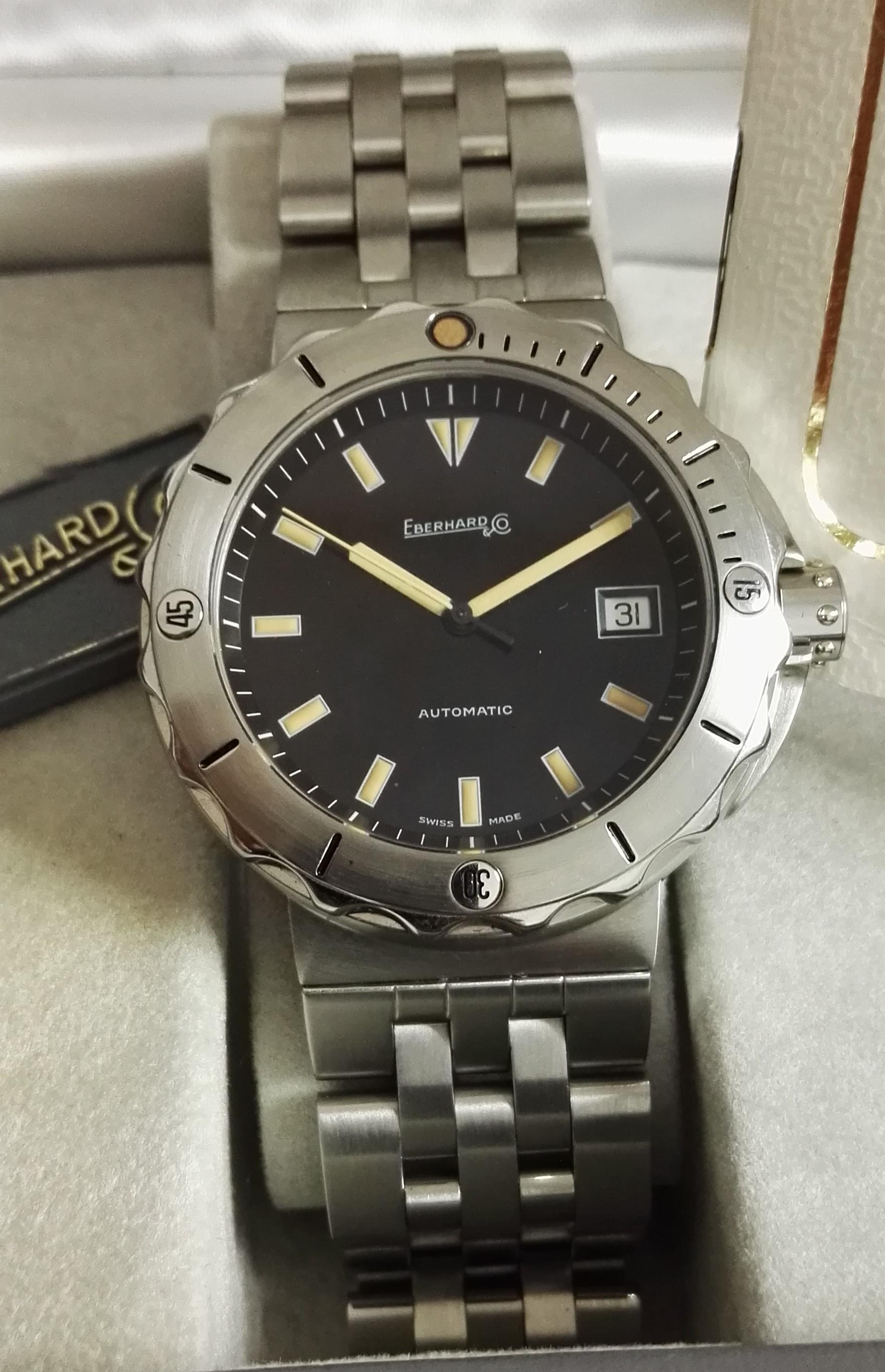 Eberhard & Co. Scafo Scafomaster 500 steel mm 40 ref. 41005 new full set | San Giorgio a Cremano
