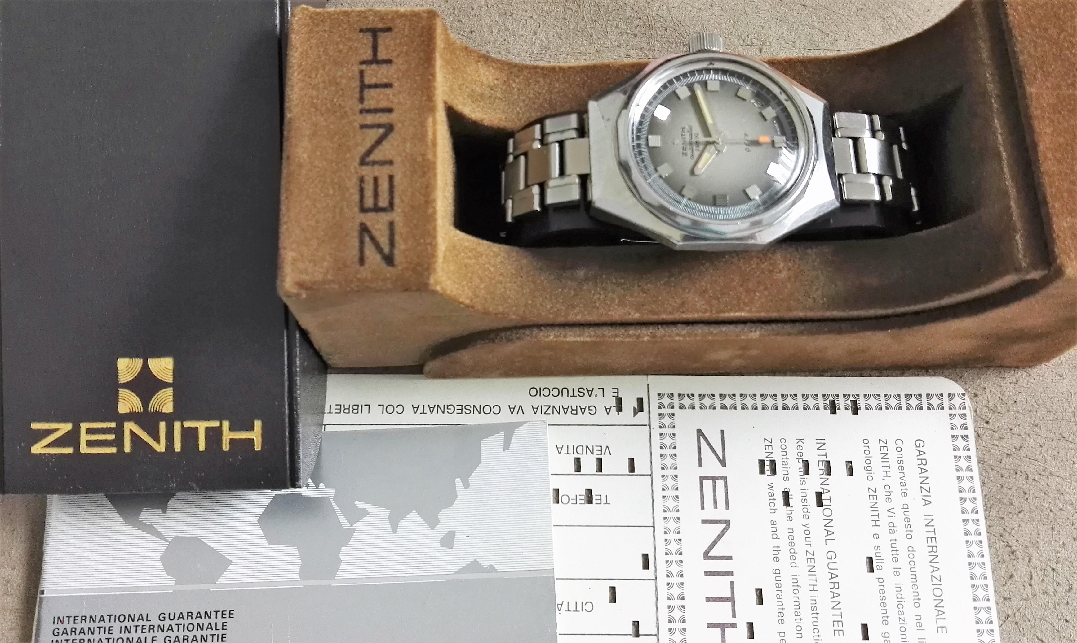 Zenith Defy DEFY AUTOMATIC GREY DIAL DATE GF MAN'S WATCH - FULL SET | San Giorgio a Cremano