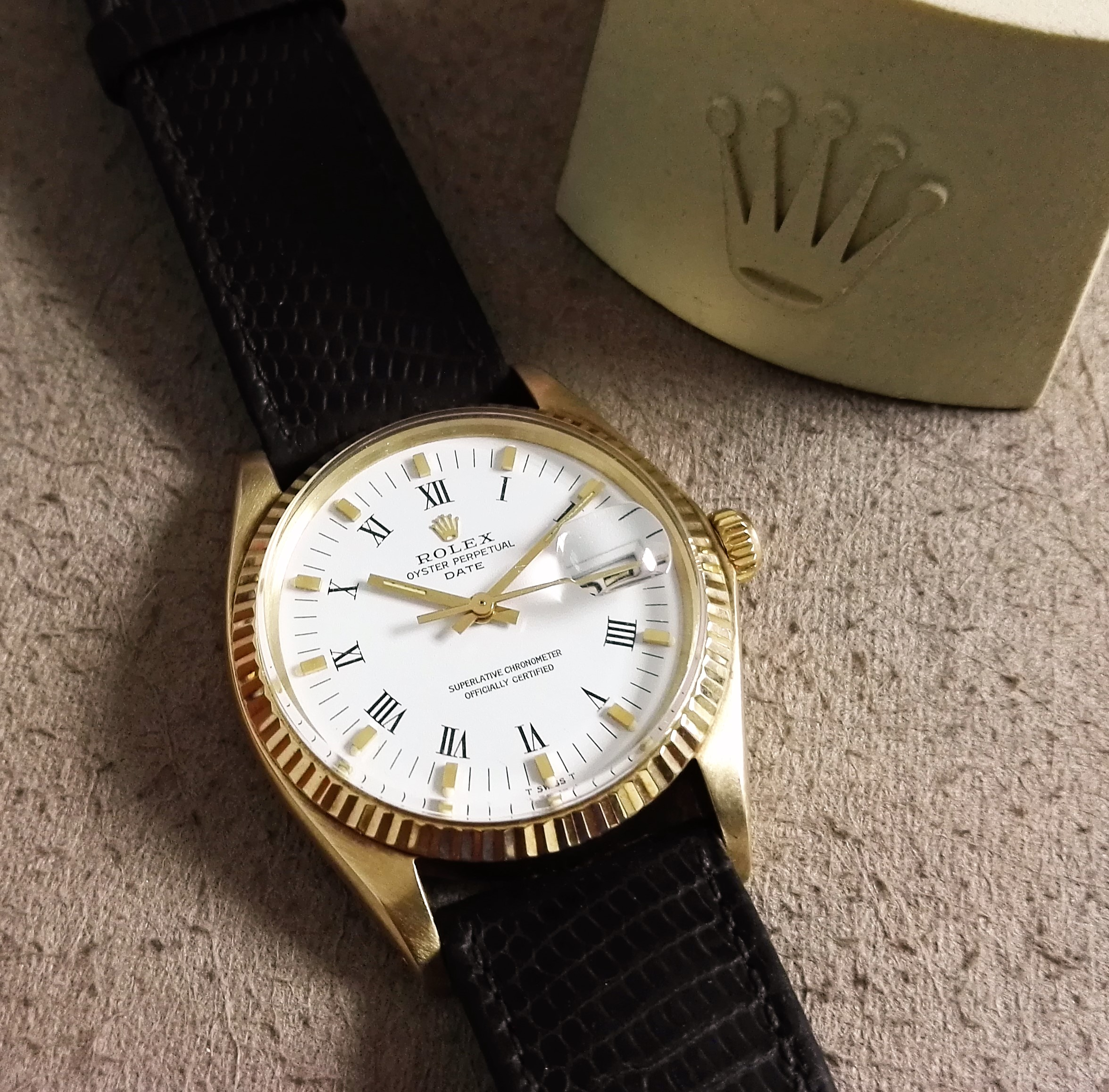 Rolex Oyster Perpetual Date Rare Oyster Perpetual Date 1500/1503 yellow gold 14 kt | San Giorgio a Cremano