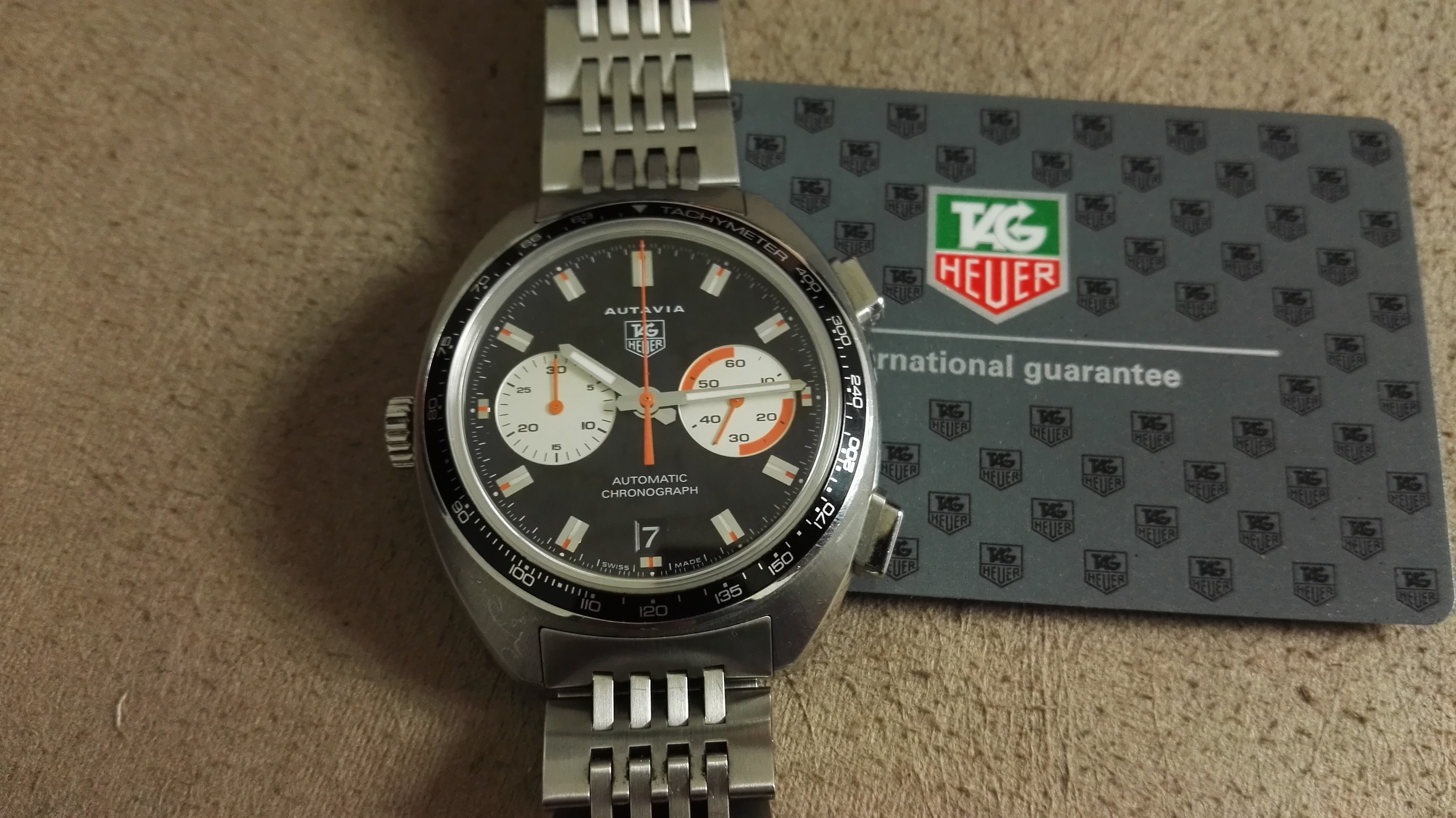 TAG Heuer Autavia Autavia Re-Edition CY2111 Watch with Stainless Steel Band | San Giorgio a Cremano