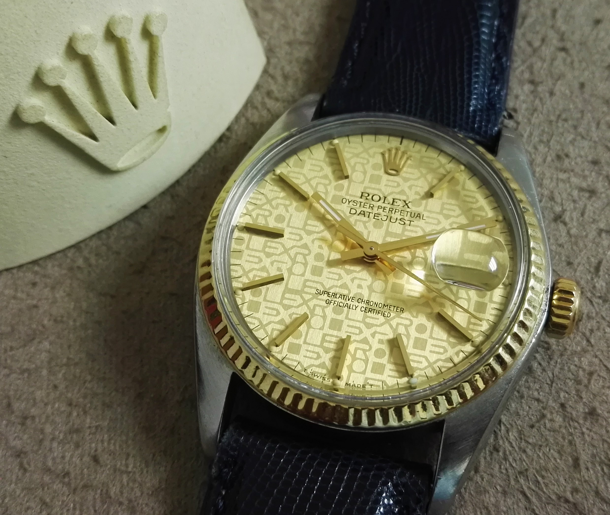 Rolex Datejust Datejust 16013 steel and 18 kt gold rare Jubilee dial | San Giorgio a Cremano