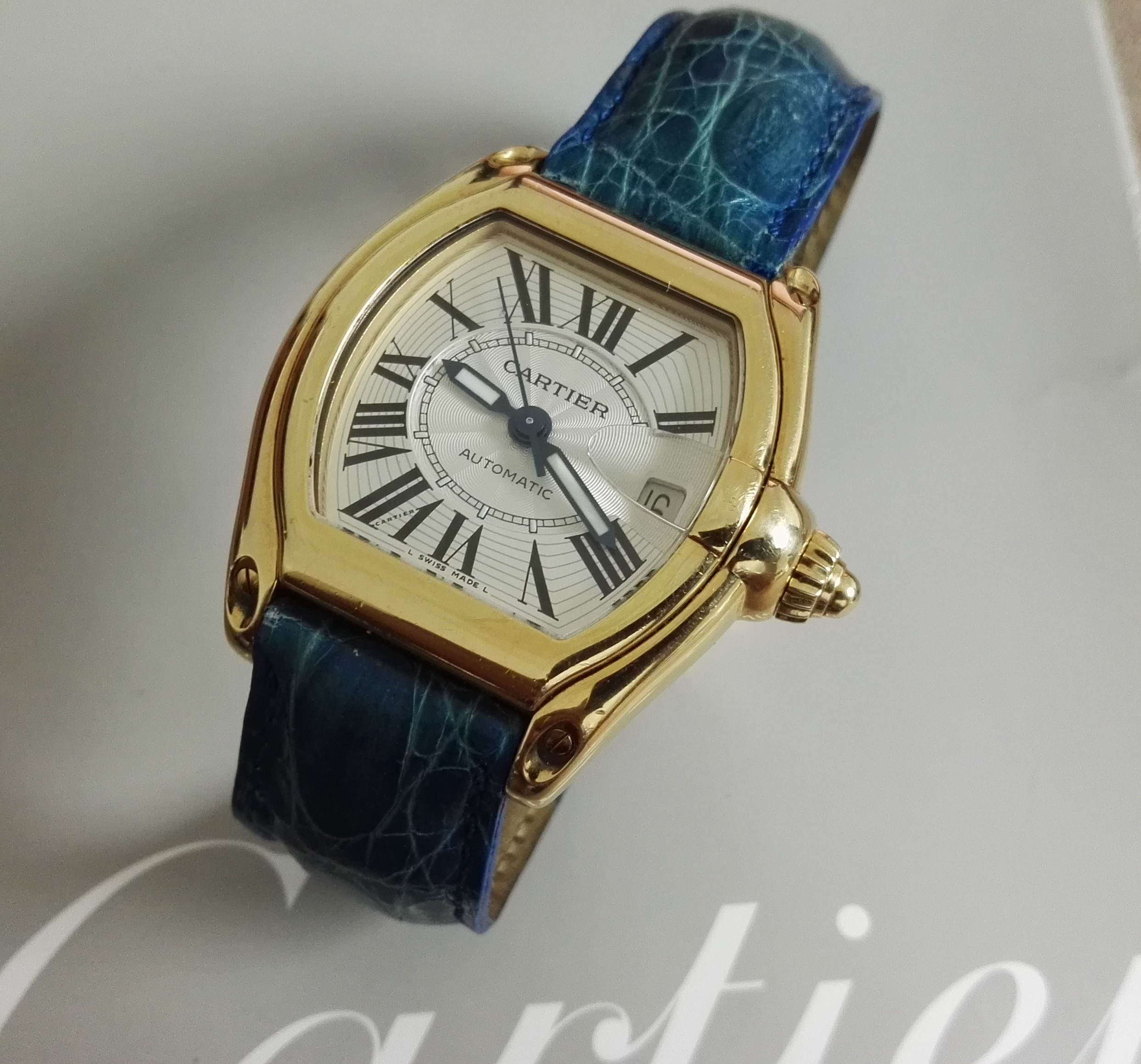 Cartier Roadster Roadster Ref.2524 Men's Solid 18k Yellow Gold Full Set | San Giorgio a Cremano