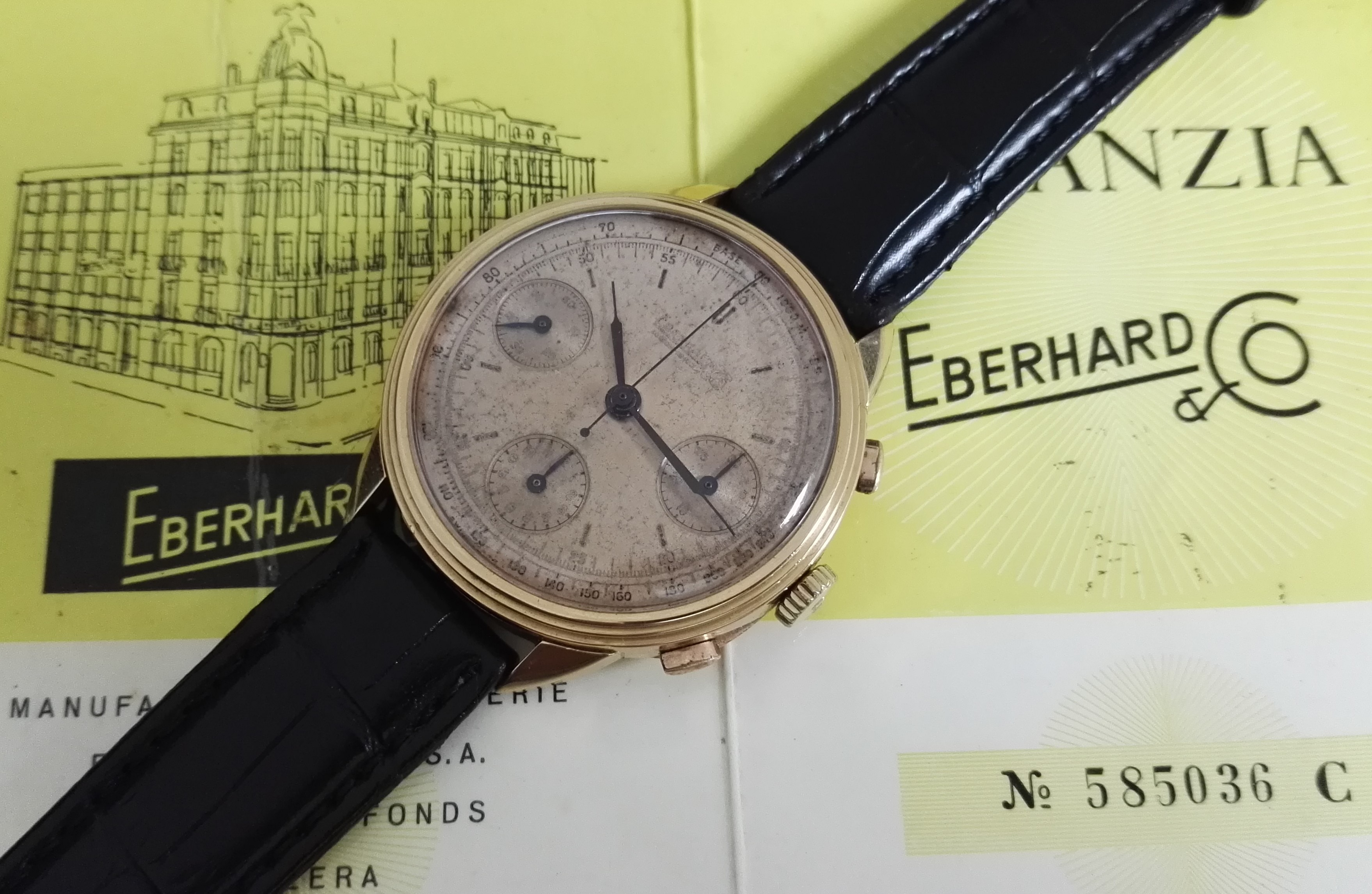 Eberhard & Co. Extra-Fort PRE EXTRA-FORT OVERSIZED CHRONO ROSE GOLD 39MM FULL SET | San Giorgio a Cremano