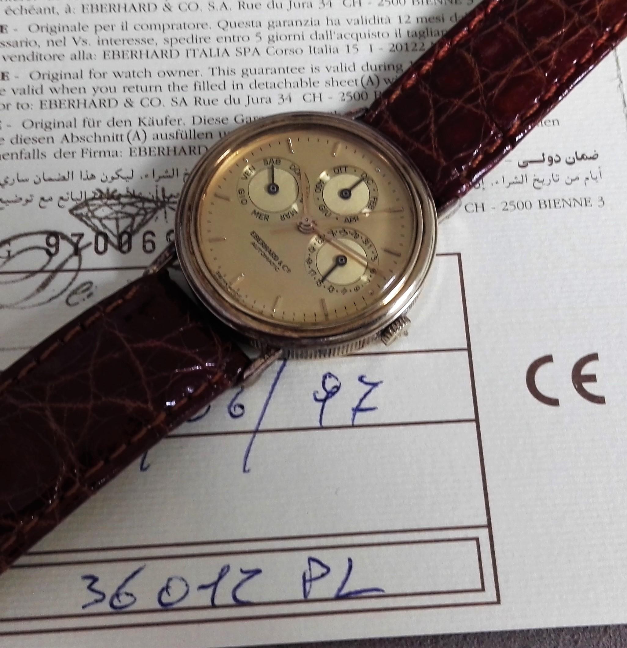 Eberhard & Co. Les Quantiemes Men's Triple Calendar Watch Argent 925 | San Giorgio a Cremano