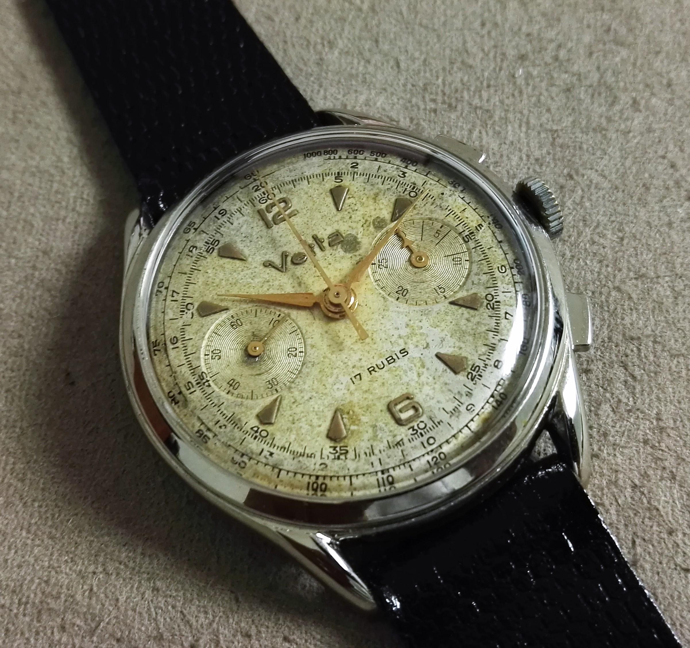 Anonimo Vetta Vintage chronograph oversize Valjoux 23 mm 38 just serviced | San Giorgio a Cremano
