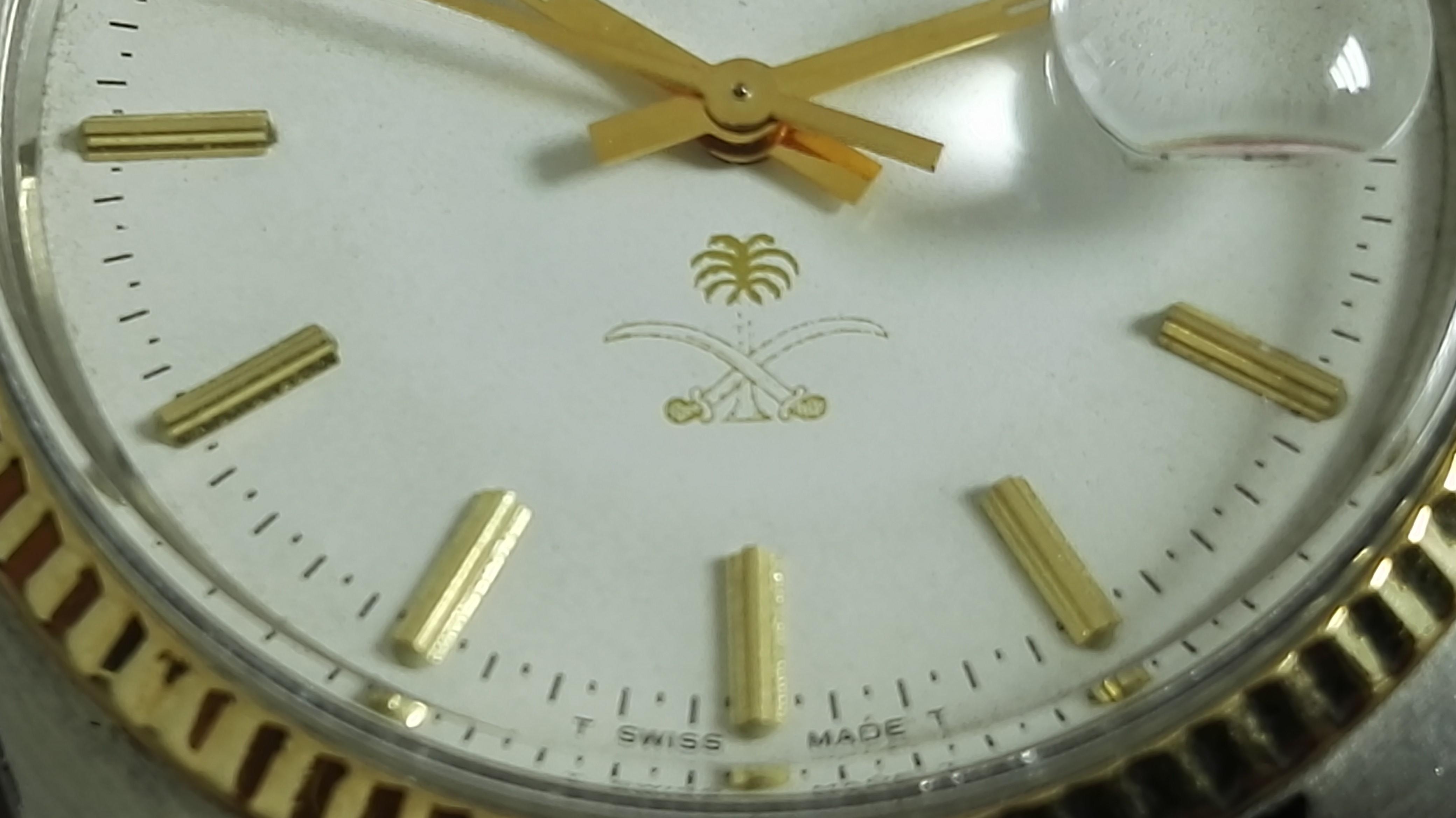 Rolex Datejust Rare Datejust Saudi Crest  16013 steel and 18 kt gold   San Giorgio a Cremano