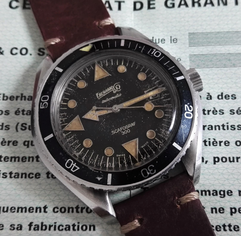 Eberhard & Co. Scafograf 300 Scafograf 300 mm 43 rare diver vintage first series full set | San Giorgio a Cremano