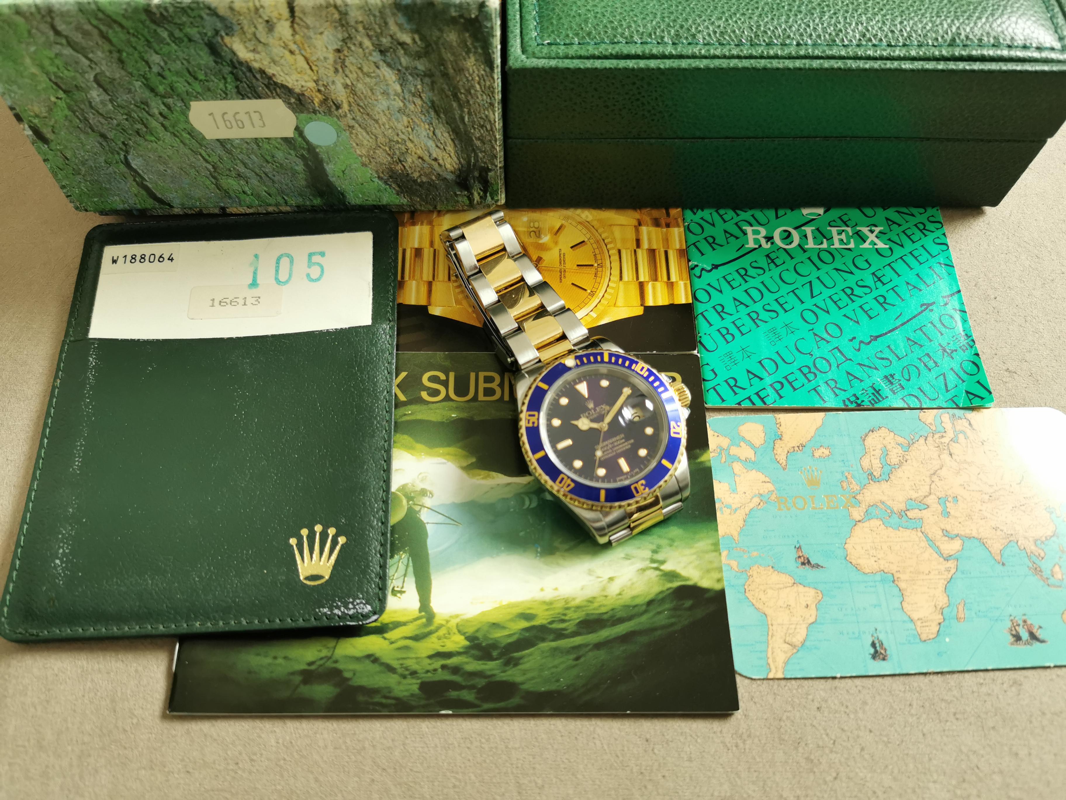 Rolex Submariner Submariner Date 16613 blu dial full set 1995   San Giorgio a Cremano