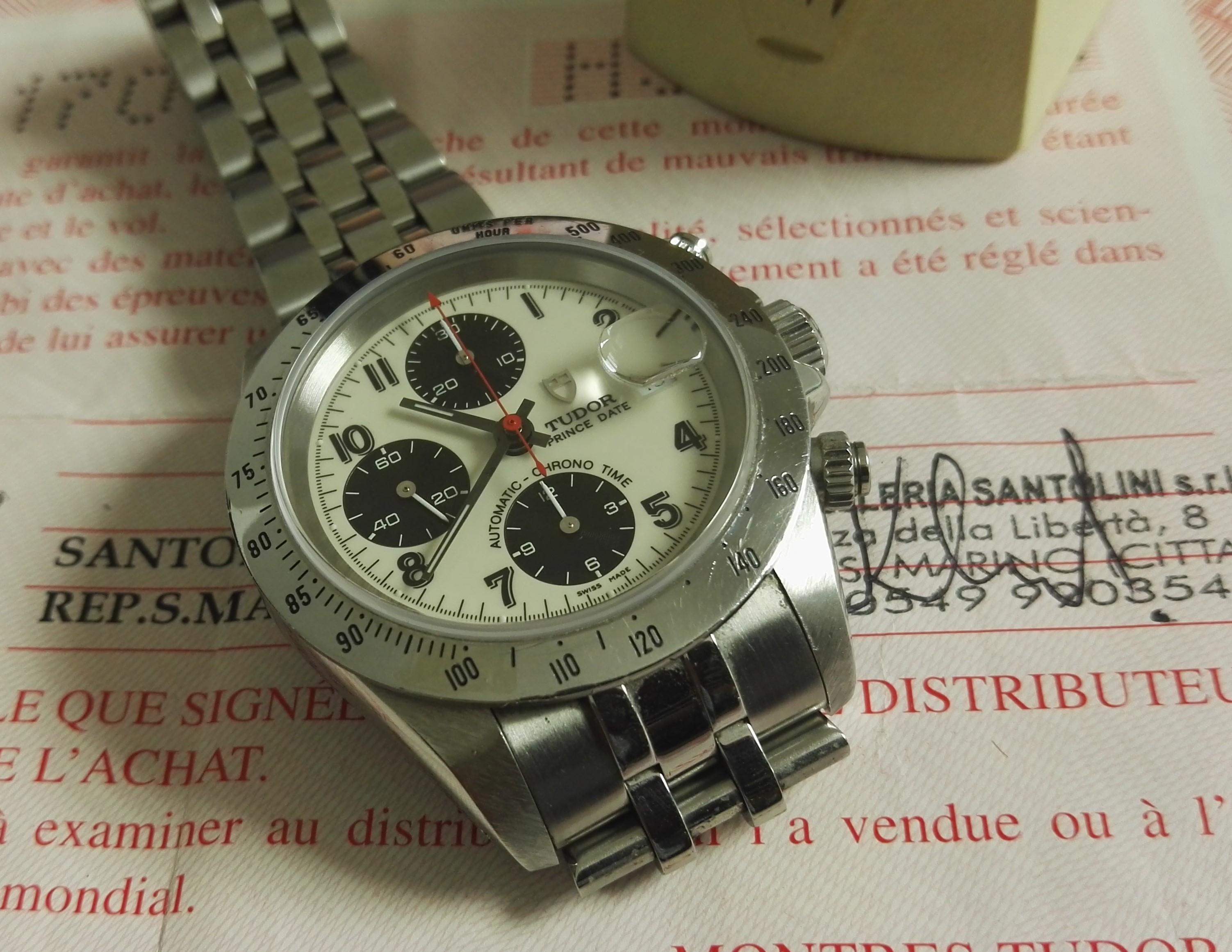 Tudor Prince Oysterdate rince Date Automatic Chrono Time pre-Tiger Ivory/black dial   San Giorgio a Cremano