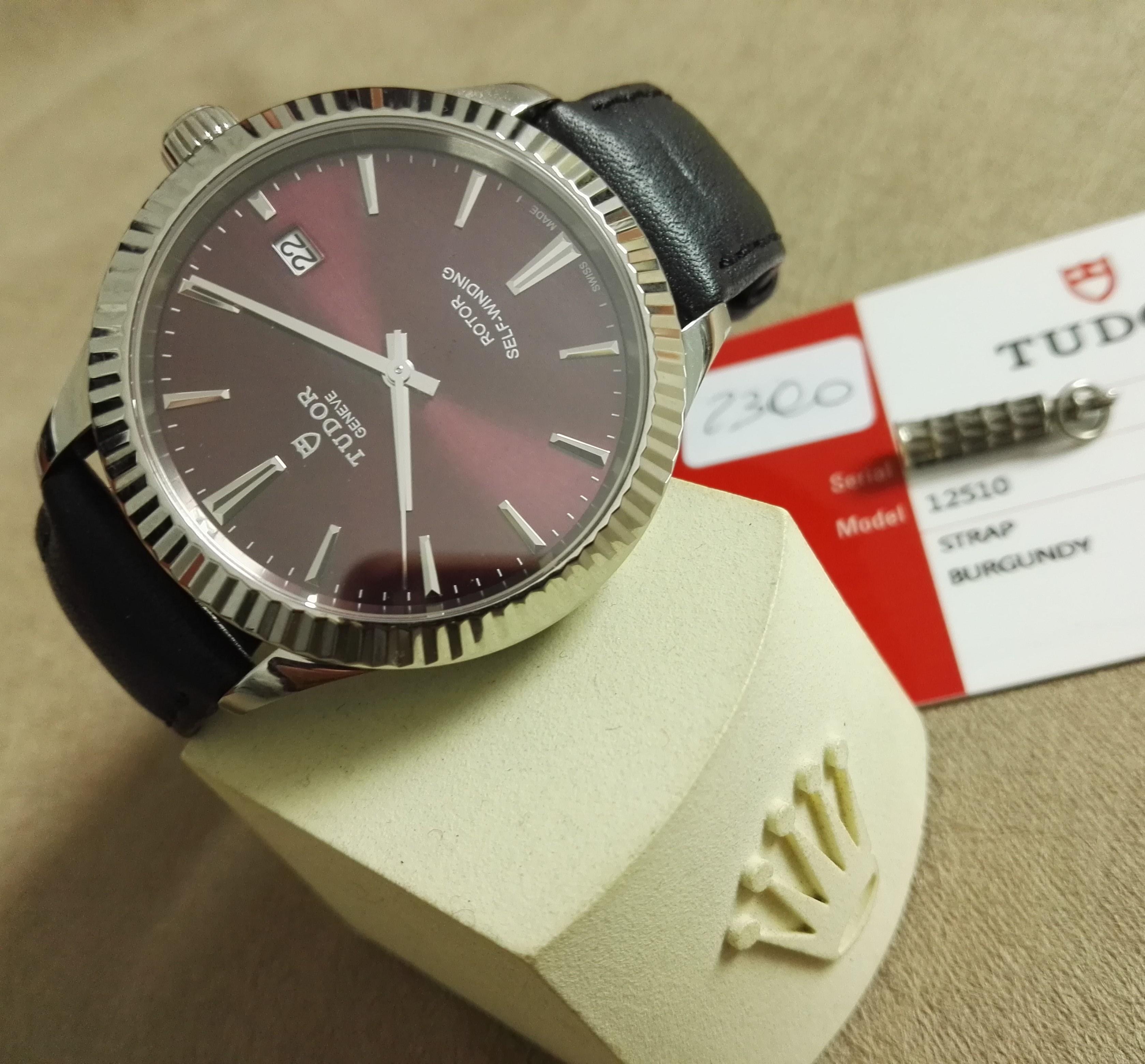 Tudor Style Style Steel Automatic Bordeaux Dial Men's Watch New 2019 | San Giorgio a Cremano