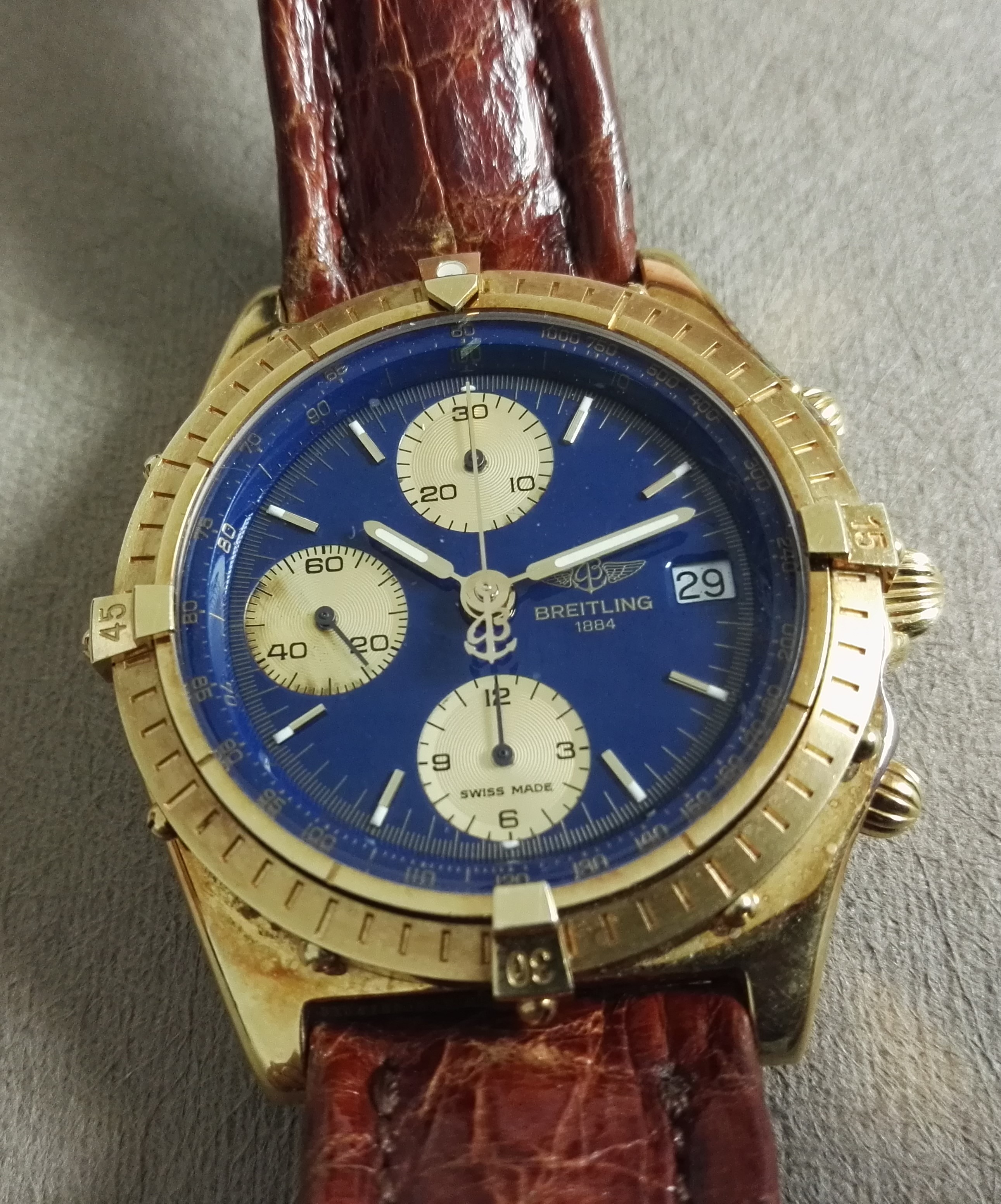 Breitling Chronomat Chronomat Chronograph Automatic 18k Gold K13047 Full Set   San Giorgio a Cremano