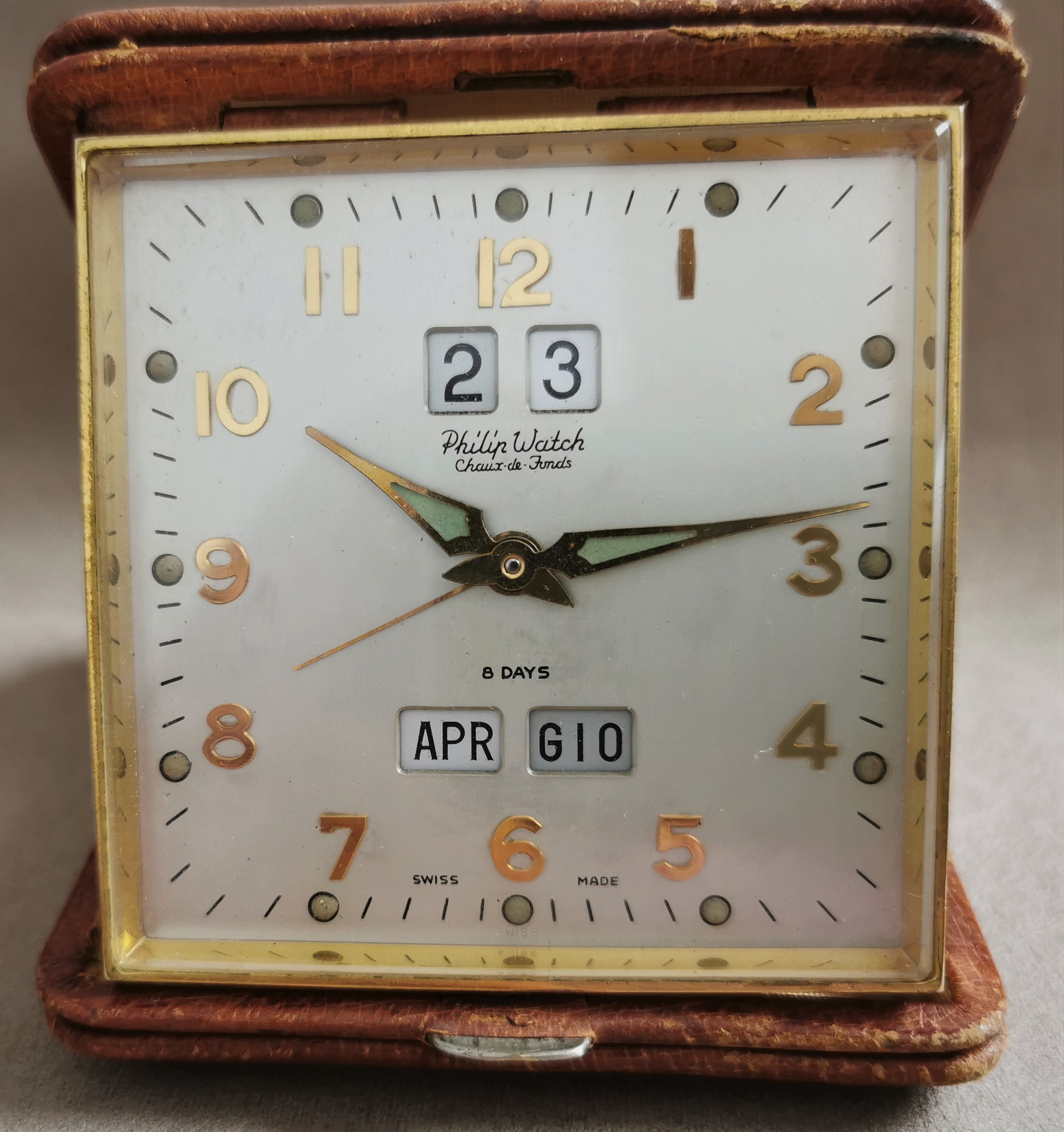 Philip Watch Watch Travel clock complete calendar mechanical 8 days - very rare | San Giorgio a Cremano