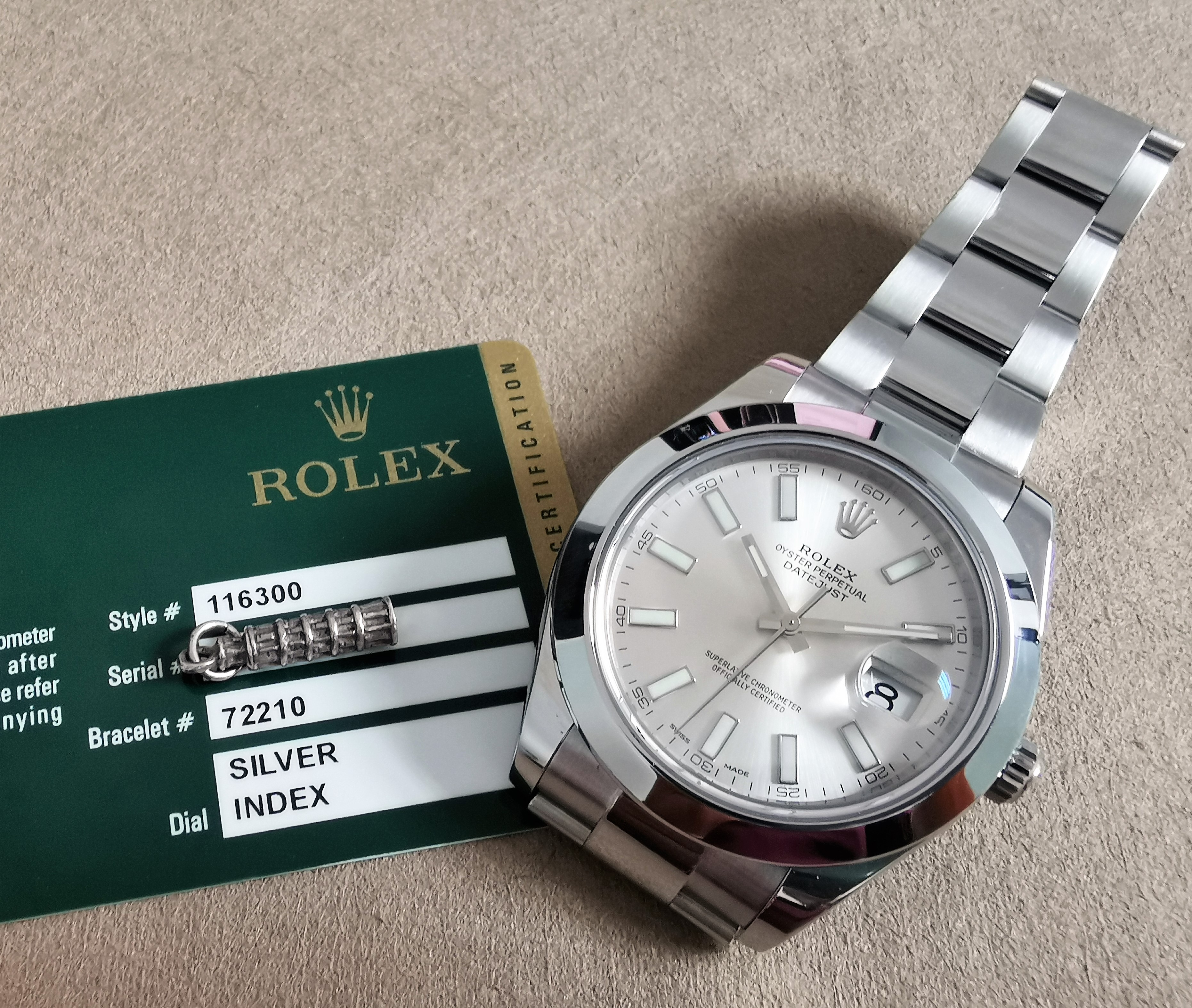 Rolex Datejust II Datejust II Stainless Steel Smooth Bezel Silver dial 116300 | San Giorgio a Cremano