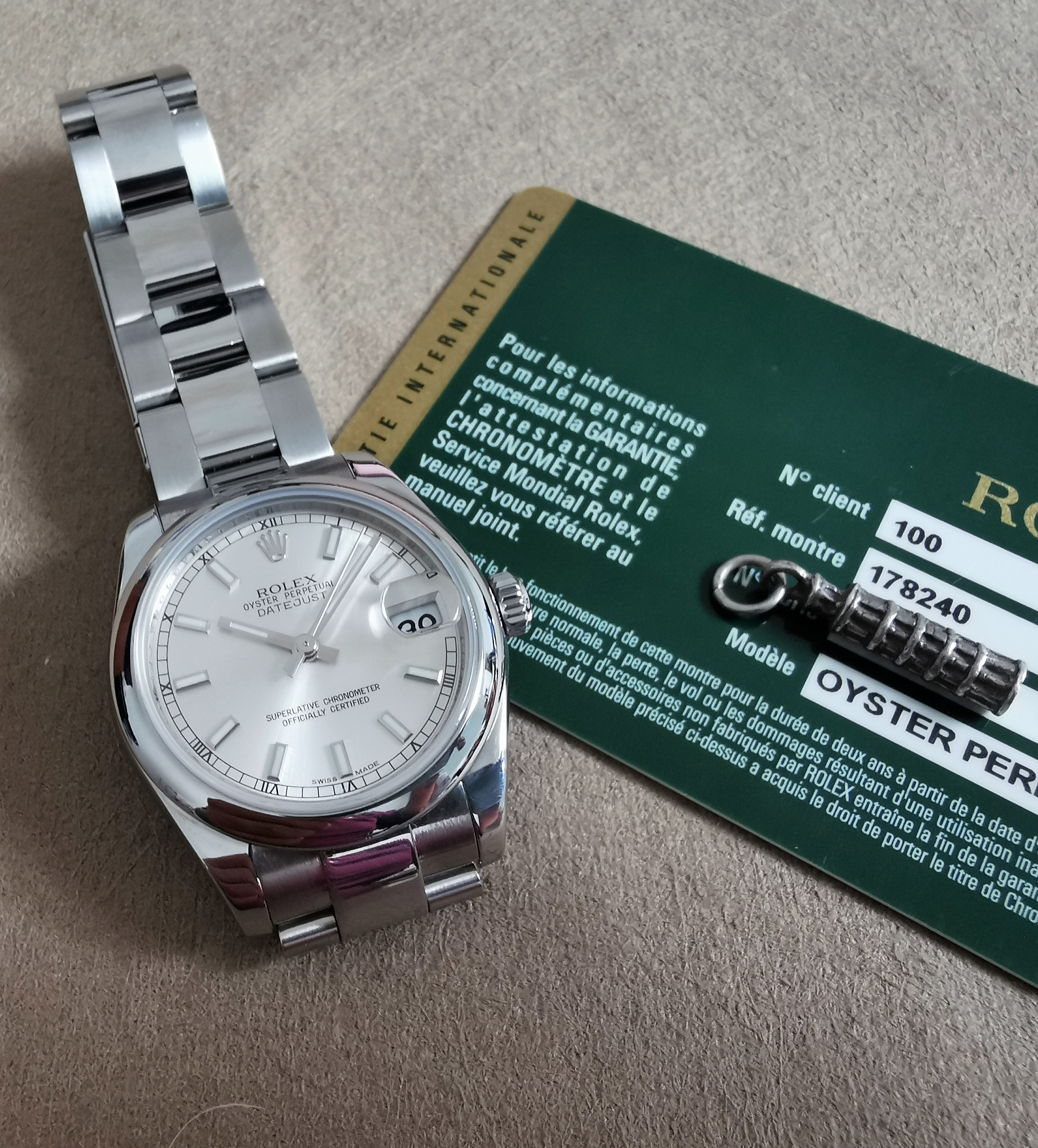 Rolex Datejust 178240 Datejust 31mm Silver Dial Oyster Bracelet SS - 2012 | San Giorgio a Cremano