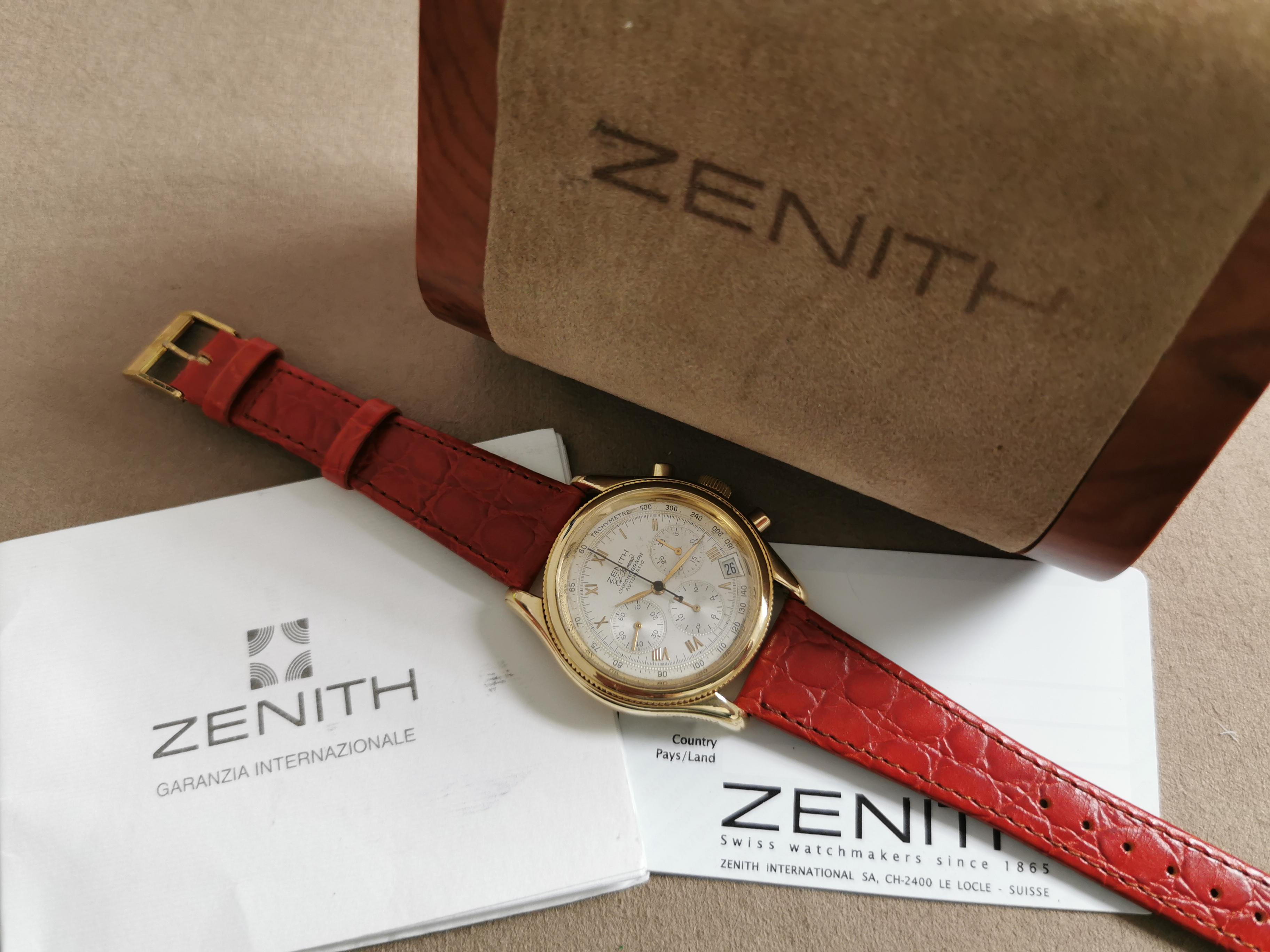 Zenith El Primero El Primero Chronograph 06.0210.400 yellow gold 18 kt full | San Giorgio a Cremano