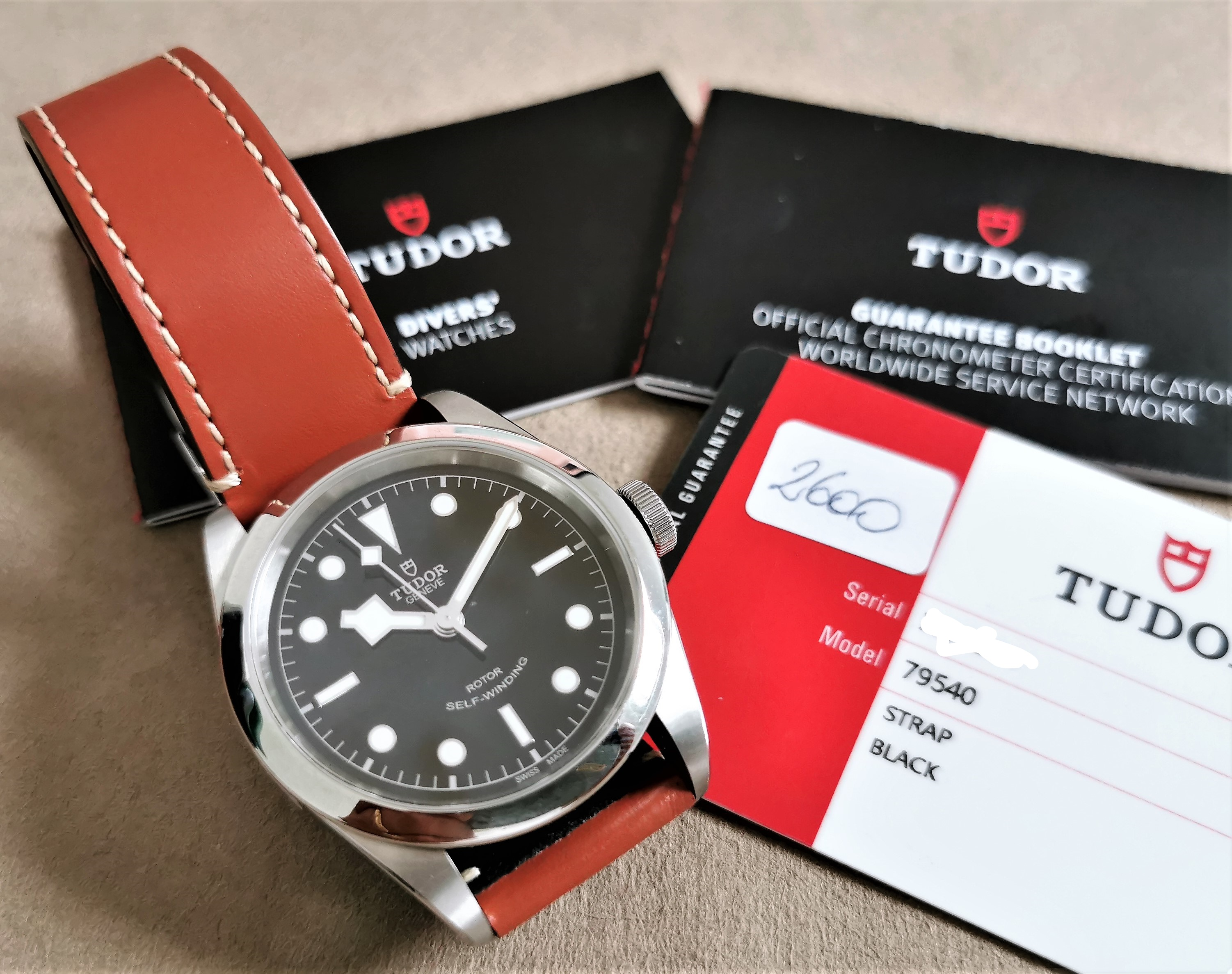 Tudor Heritage Black Bay Heritage Black Bay 41 Automatic Black Brown Leather 2019 | San Giorgio a Cremano