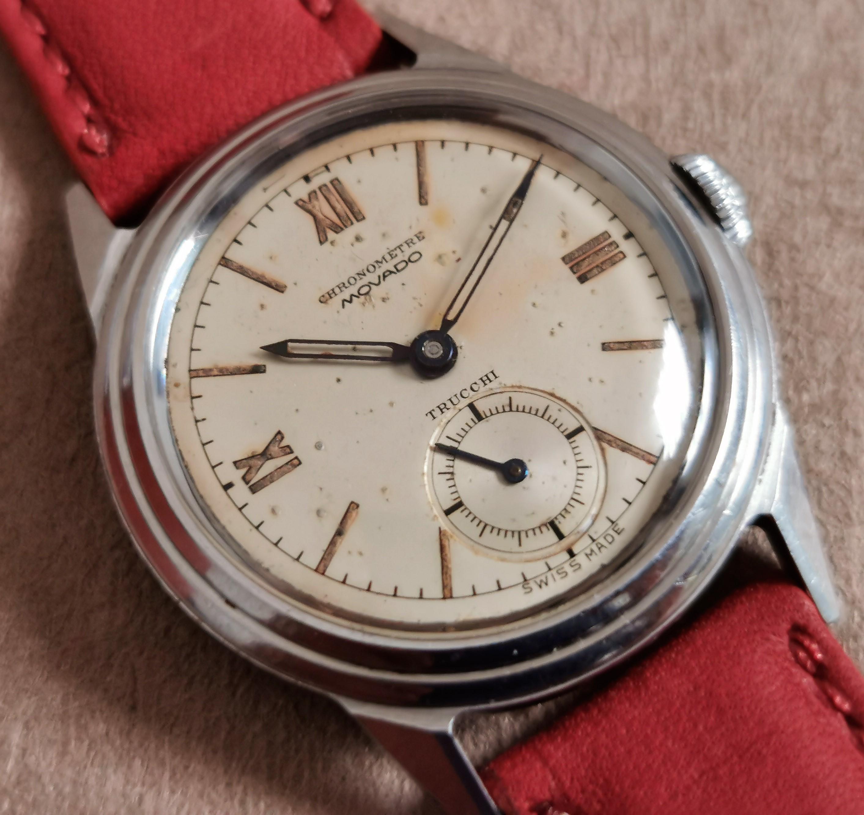 Movado Waterproof chronometre for retailer Trucchi steel case mm 30 | San Giorgio a Cremano
