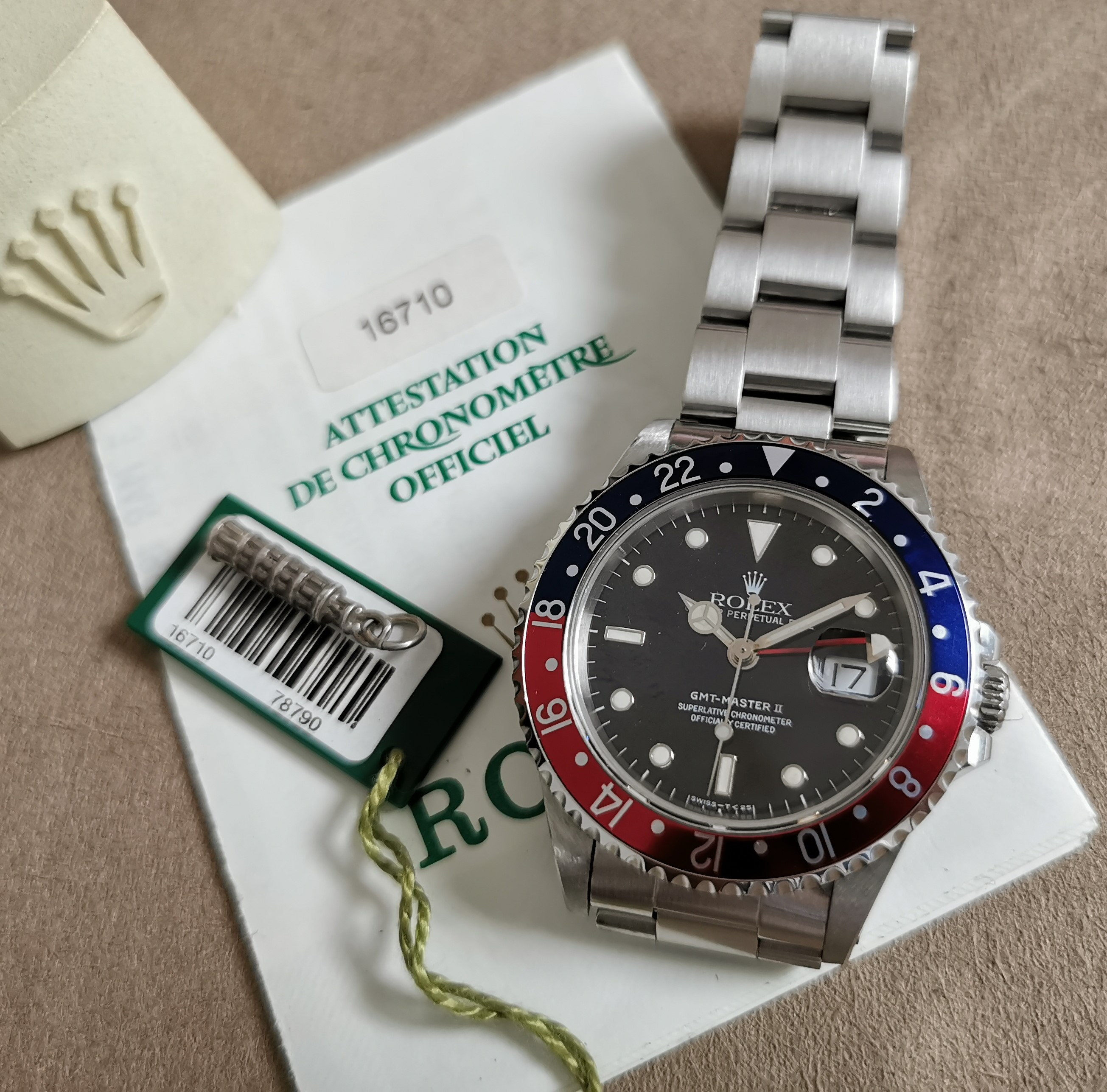 Rolex GMT-Master II GMT-Master II Ref. 16710 Serial U 1998 tag and warranty Asiatic dealer | San Giorgio a Cremano