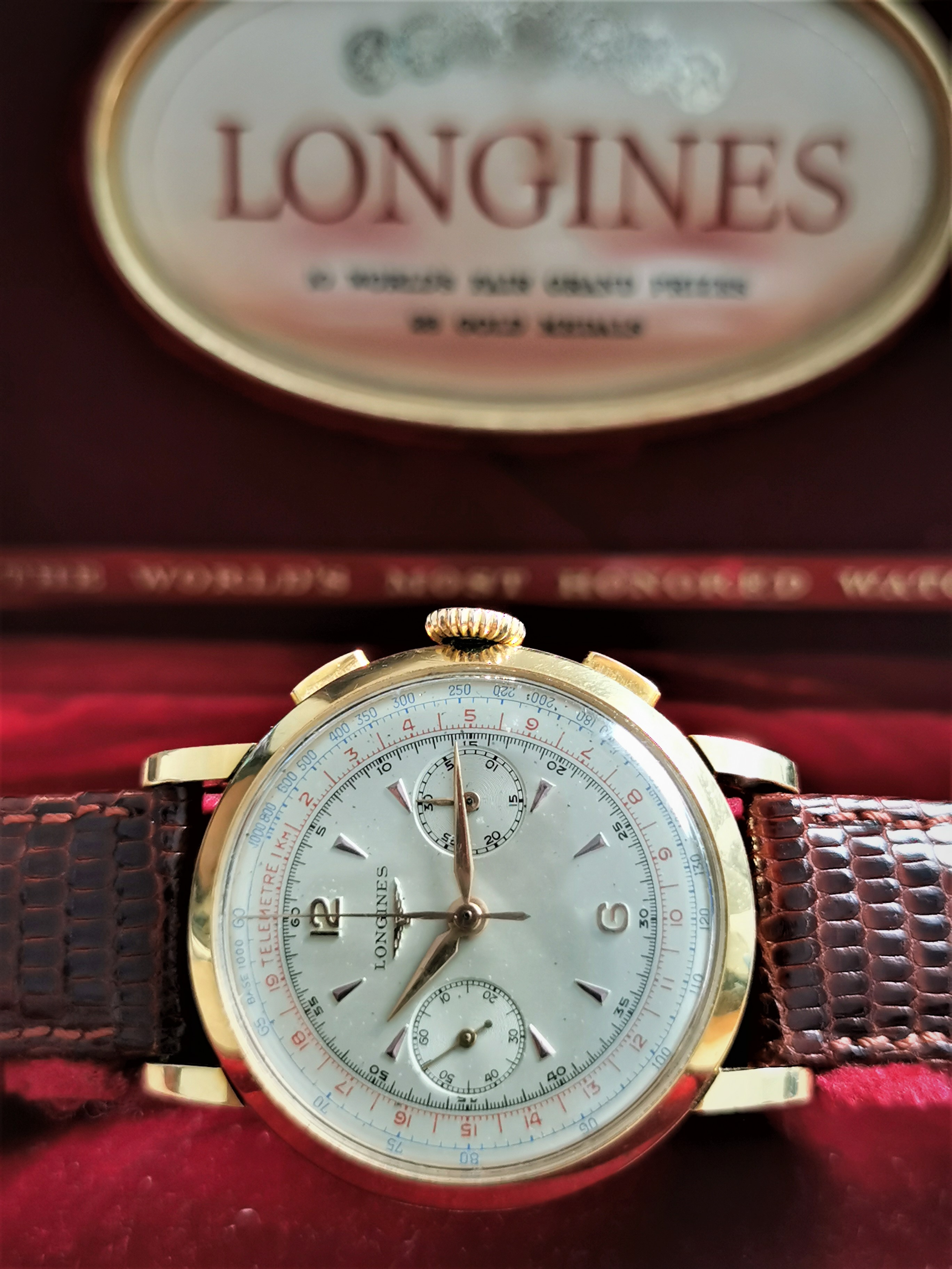 Longines 30CH Ref. 6234 18 kt gold yellow mm 37.5 top condition - box | San Giorgio a Cremano