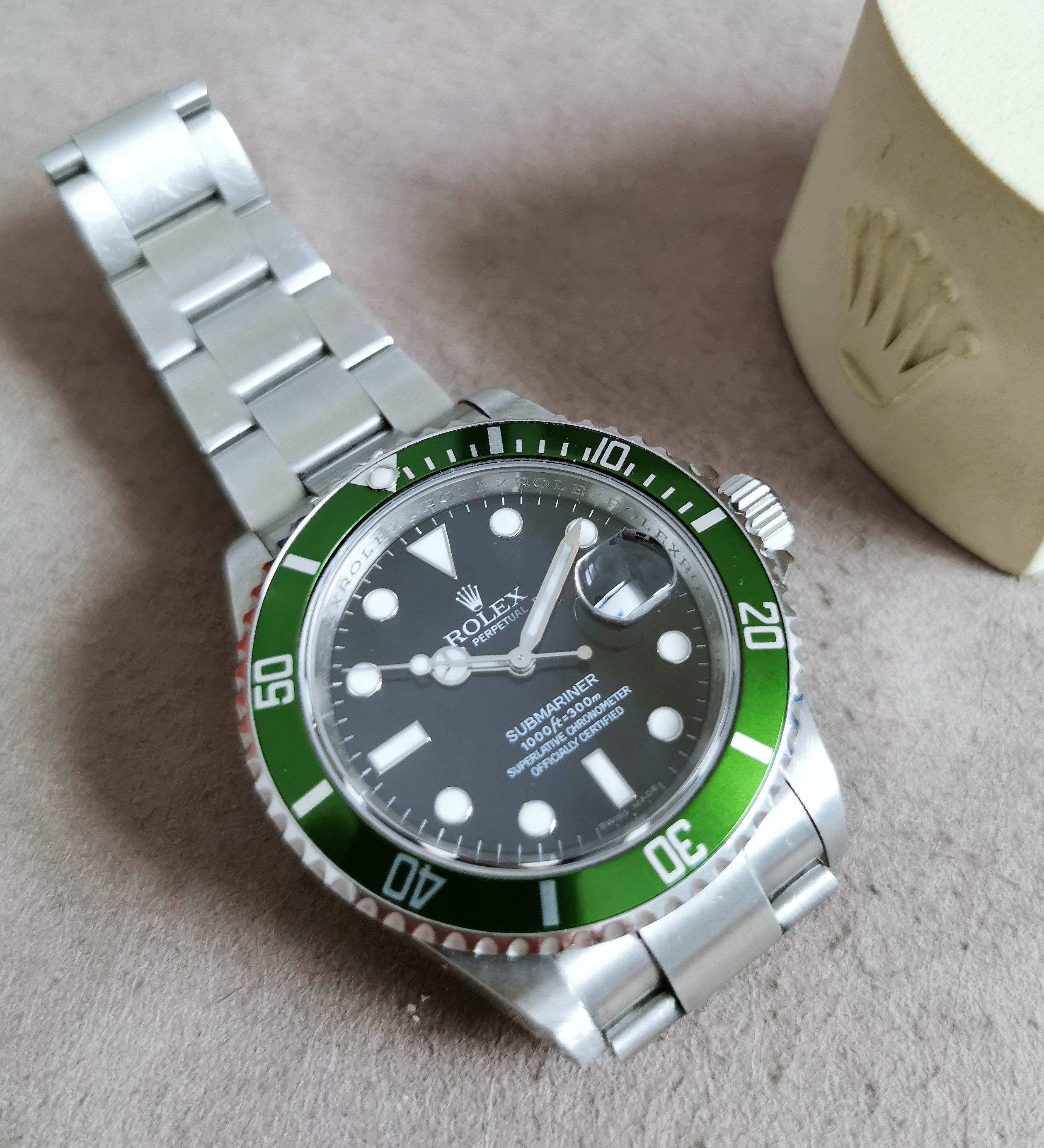 Rolex Submariner Date Submariner Green Bezel Kermit 16610LV RRR Serial V year 2010 good condition | San Giorgio a Cremano
