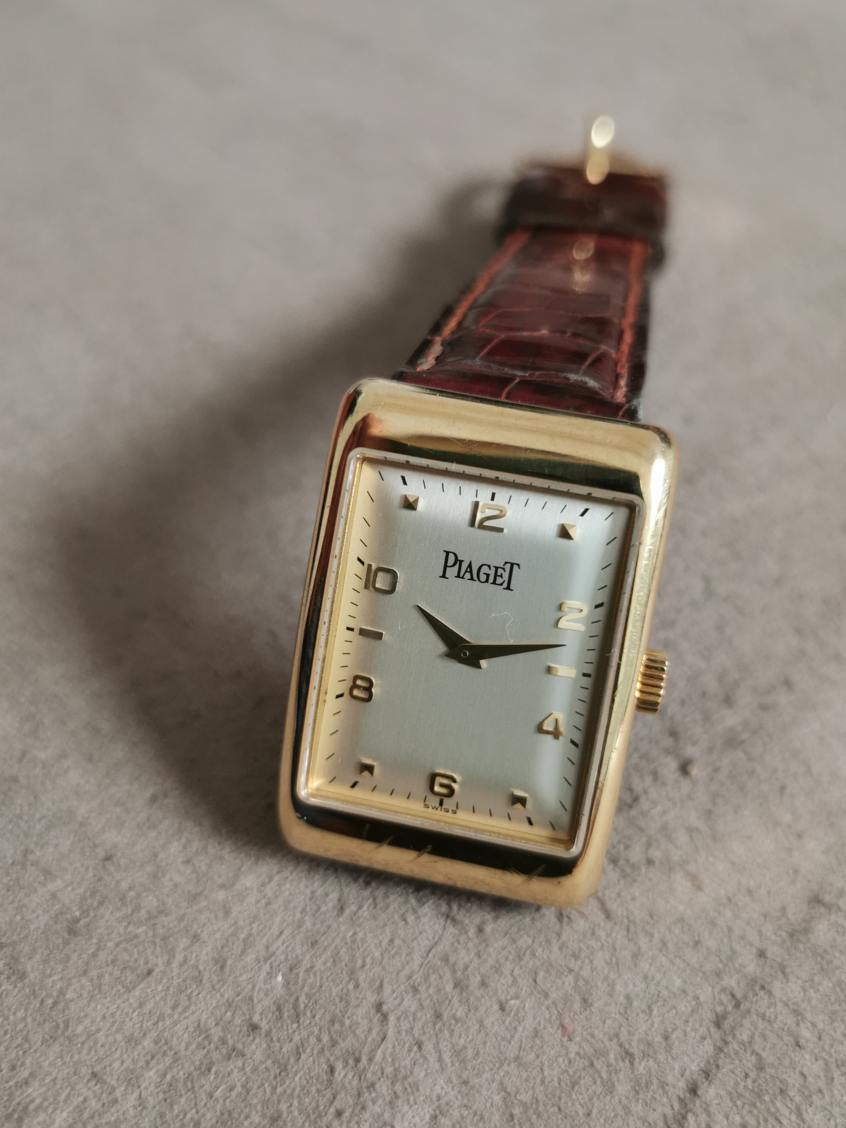 Piaget 9952 Black Tie Rectangle A L Ancienne manual wind 18 kt gold yellow - box | San Giorgio a Cremano