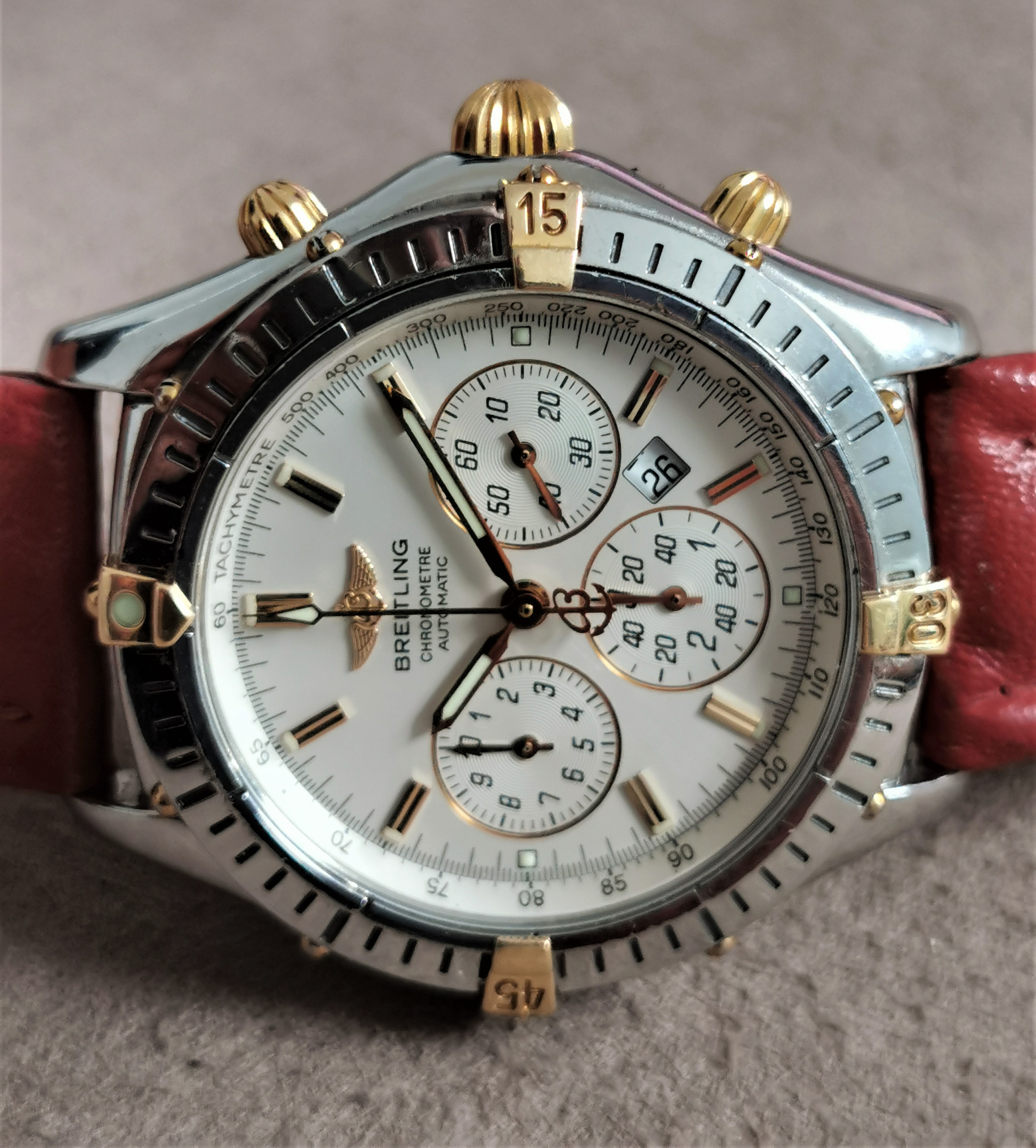 Breitling Shadow Flyback Shadow Flyback steel and 18 kt gold mm 38 silver dial good condition | San Giorgio a Cremano