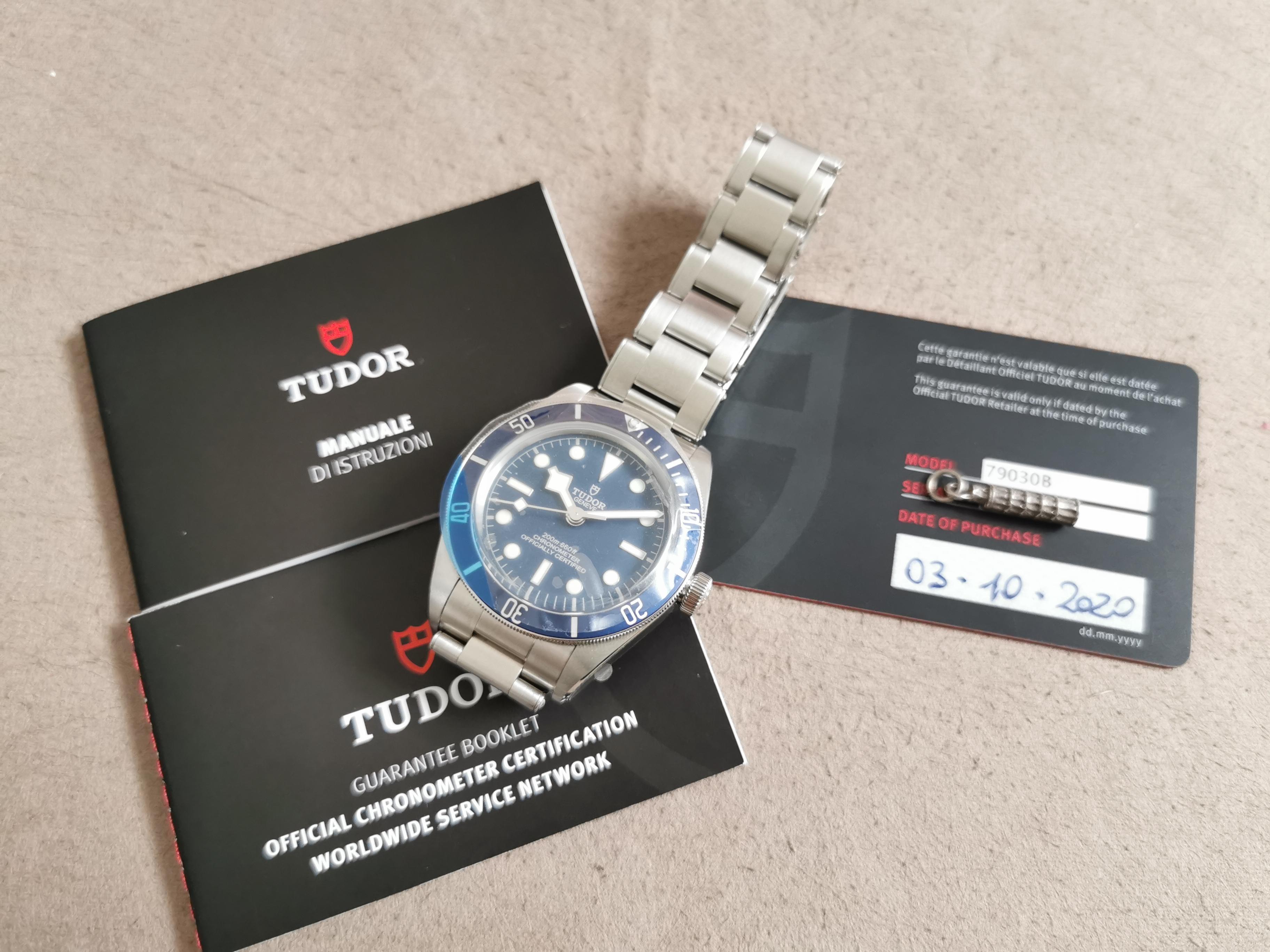 Tudor Heritage Black Bay Black Bay Fifty-eight Blue Dial 79030B New full set card 10-2020 | San Giorgio a Cremano