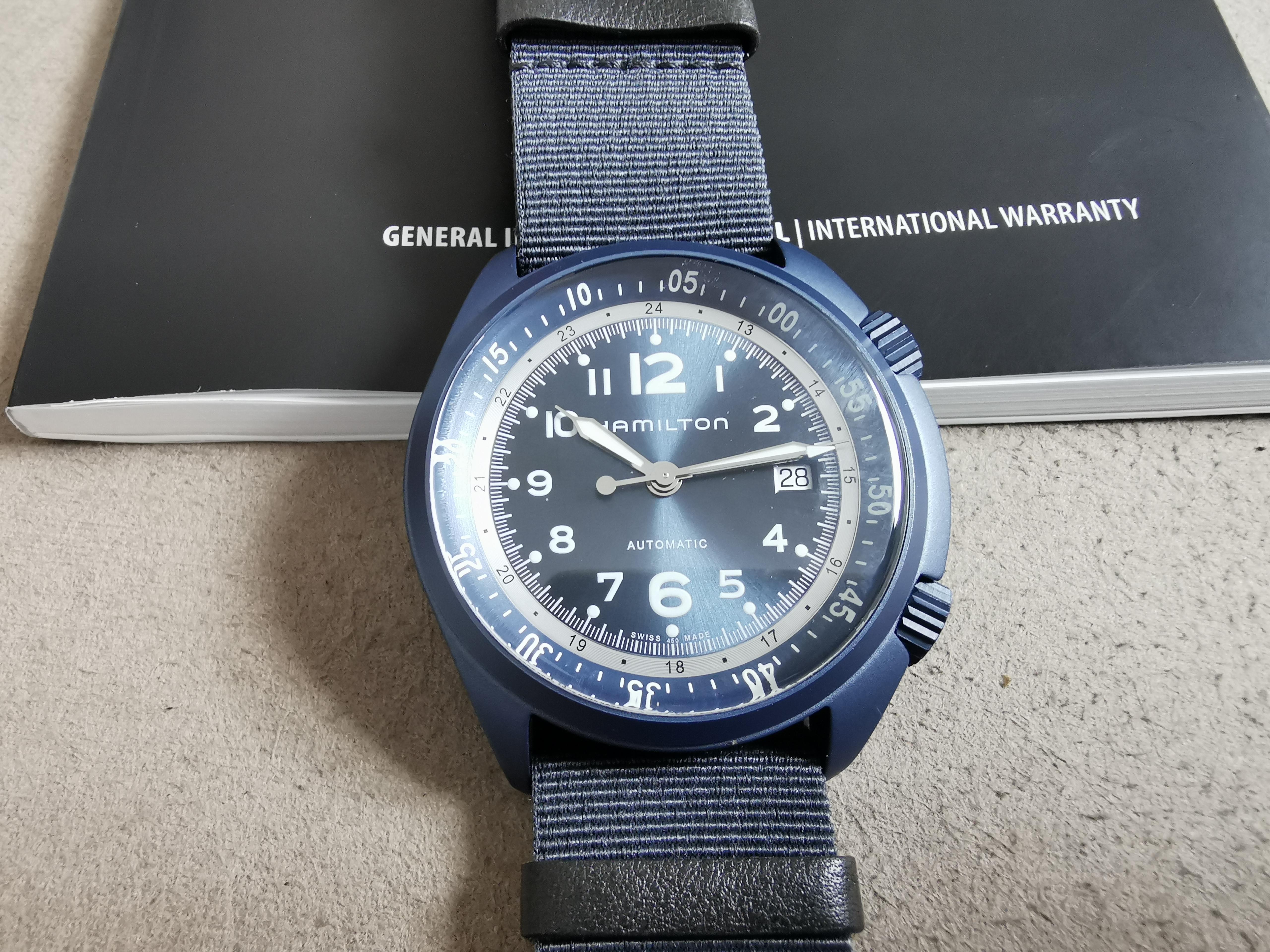Hamilton Khaki Aviation Khaki Aviation Pioneer Automatic Blue Dial Aluminium Men's Watch - H80495845 | San Giorgio a Cremano
