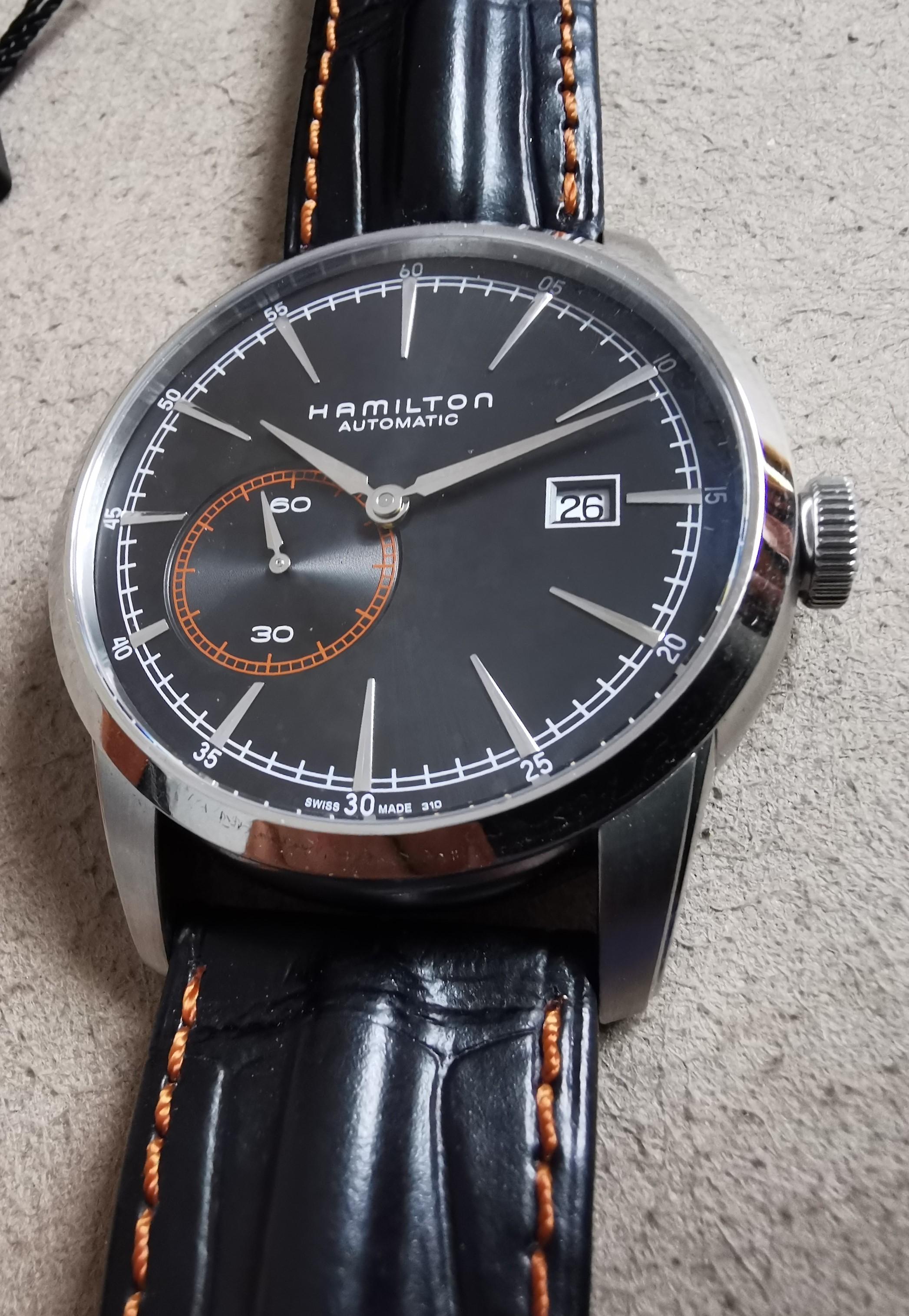 Hamilton American Railroad Small Second Classic Black Dial Leather Strap Men's Watch H40515731 | San Giorgio a Cremano