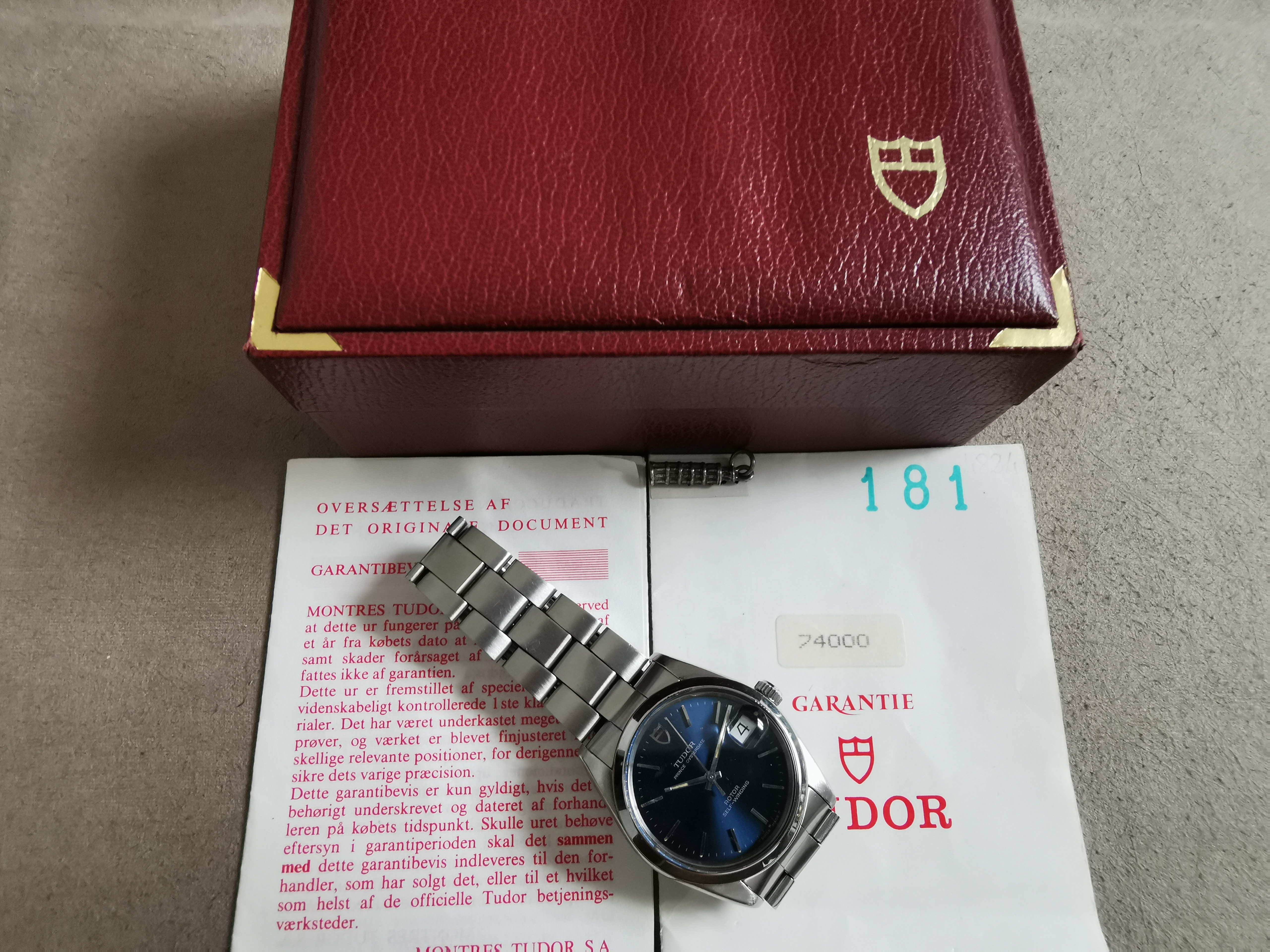 Tudor Prince Oysterdate Prince Oysterdate Blue Dial from 1994 74000 good condition full set | San Giorgio a Cremano