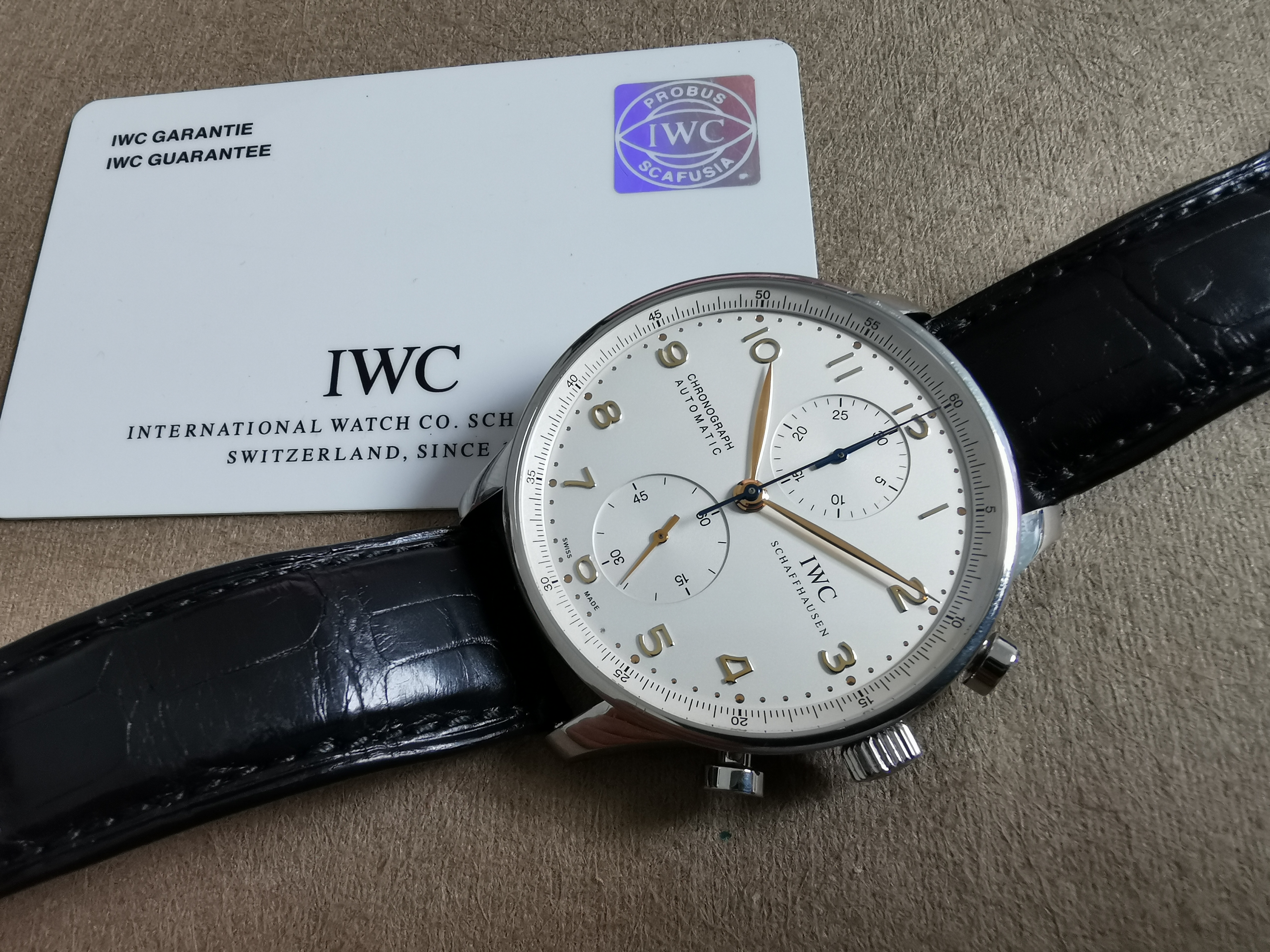 IWC Portuguese Portugieser Chronograph Automatic Silver Dial Stainless Steel 40.9MM - 2012 | San Giorgio a Cremano