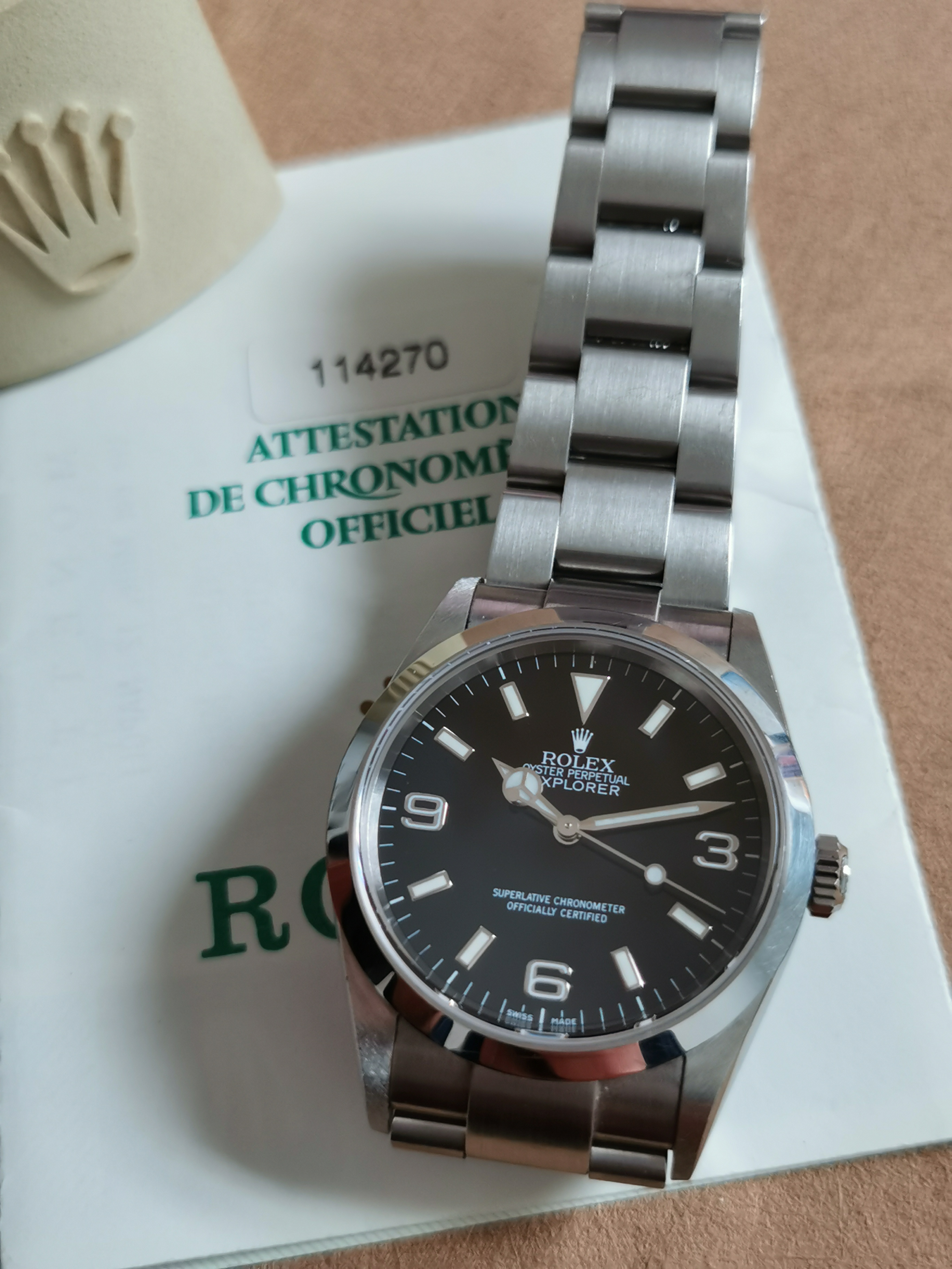 Rolex Explorer EXPLORER l Oyster Perpetual 114270 Papers Steel Automatic watch mm 36 | San Giorgio a Cremano