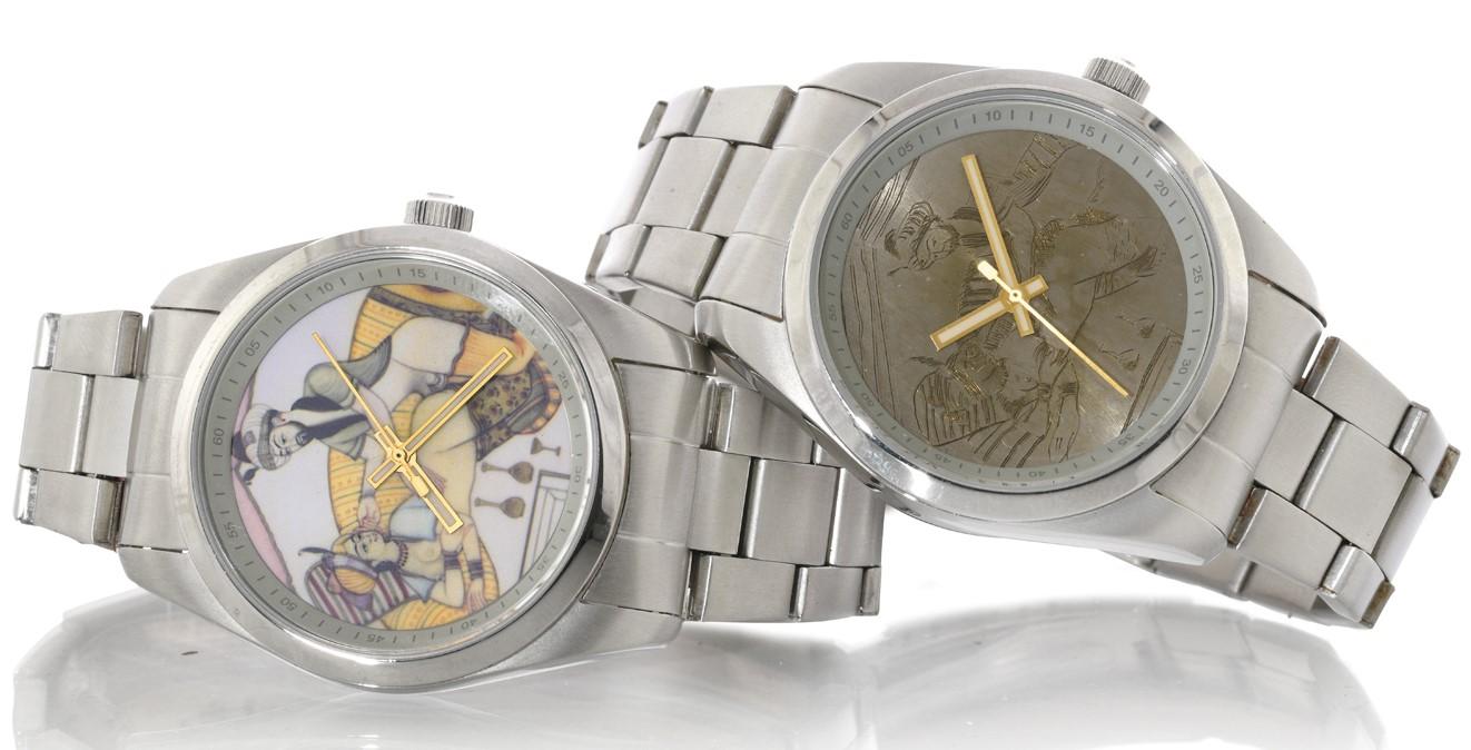Anonimo Fonderia Rare Pair Of Erotic Watches Recent Series steel mm 41 quartz movement full set | San Giorgio a Cremano