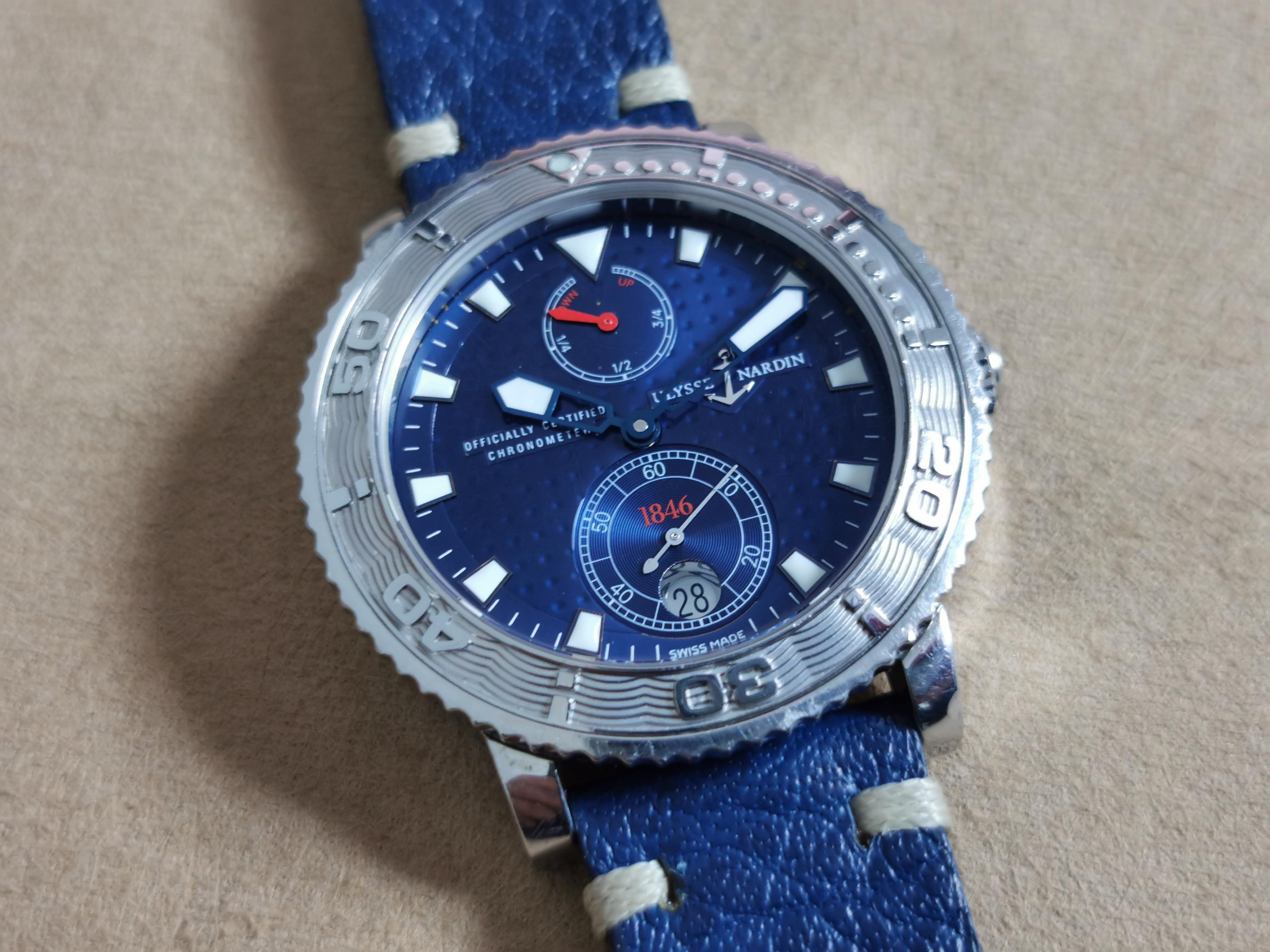 Ulysse Nardin Marine Chronometer 41mm Maxi Marine Ref. 263-58 Limited Edition N. 419/999 Blu Dial Steel 41 Mm | San Giorgio a Cremano