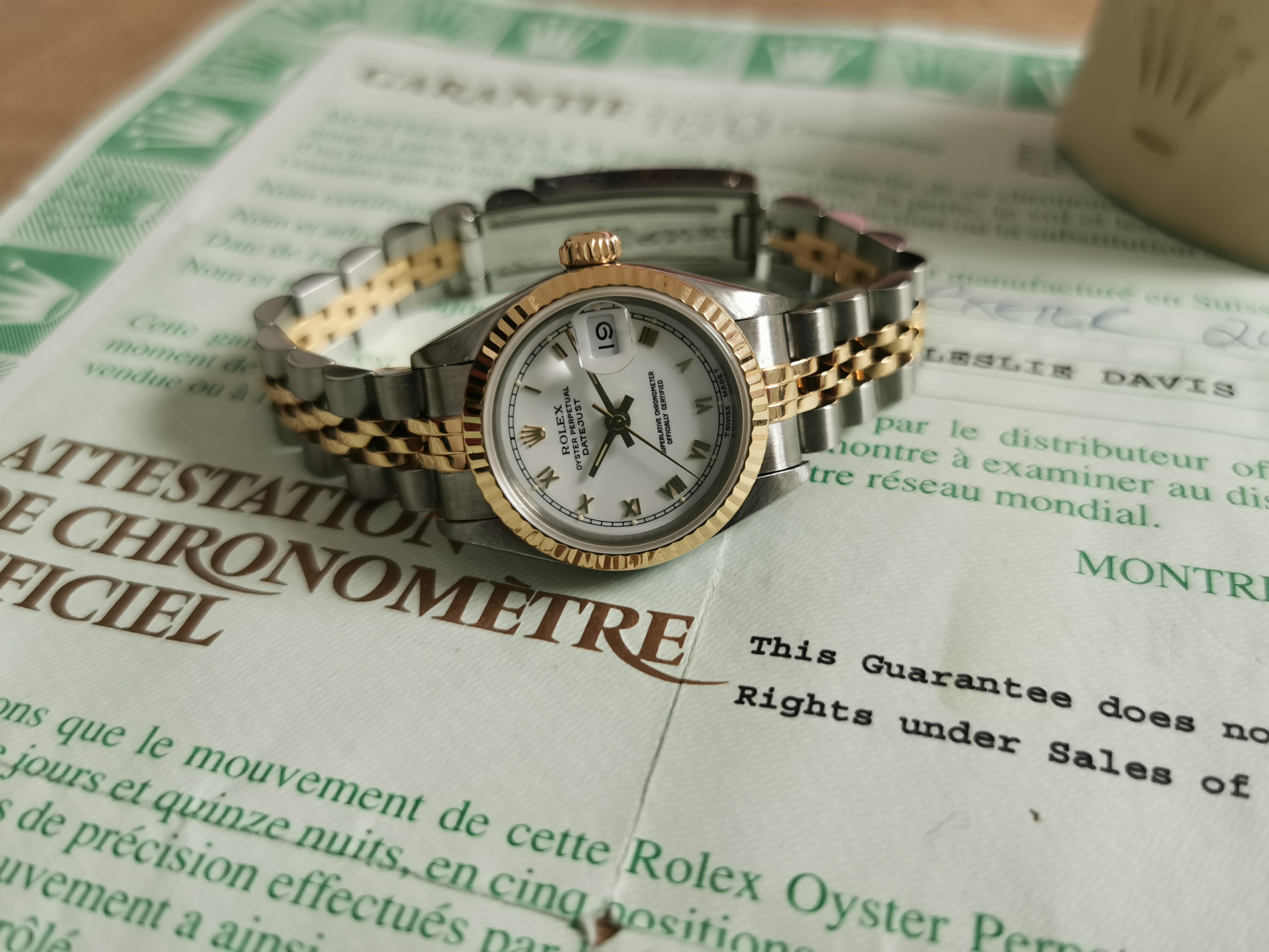 Rolex Lady-Datejust Lady-Datejust 69173 steel and gold 18 kt white romain jubilee warranty 1998 | San Giorgio a Cremano