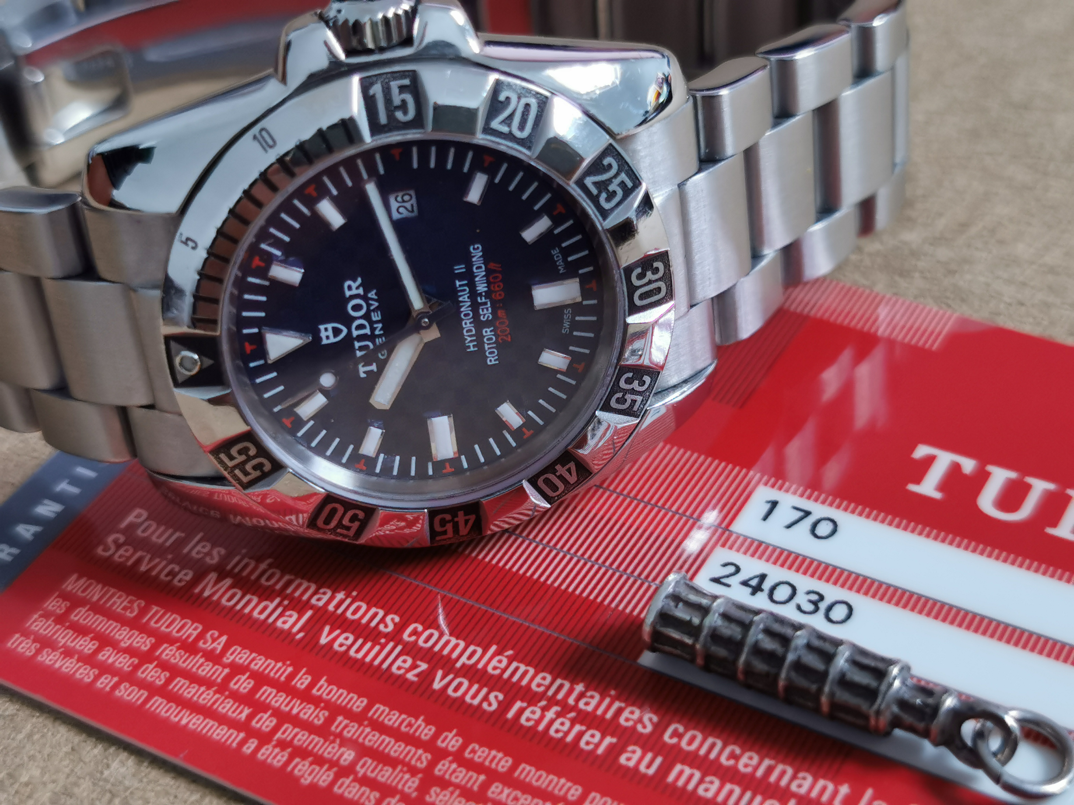 Tudor Hydronaut Hydronaut II Ladies Automatic Steel on Steel Bracelet Blue Carbon Fiber Dial full set 2010 | San Giorgio a Cremano