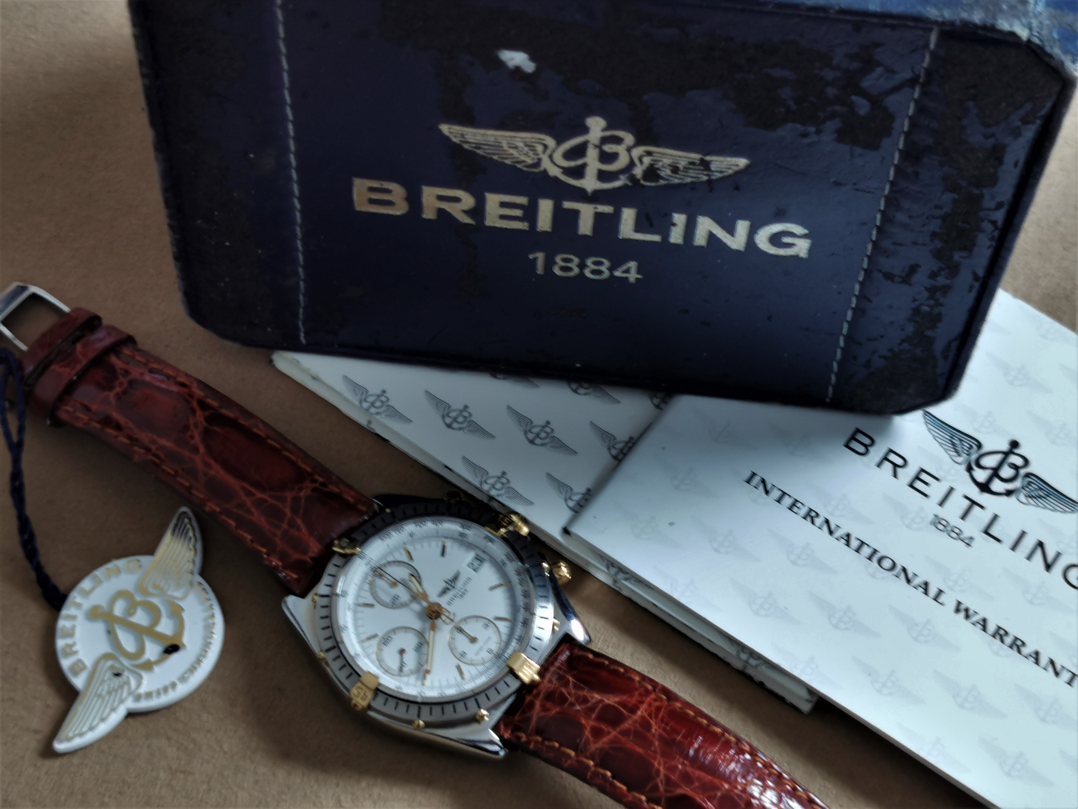 Breitling Chronomat B13048 Steel/gold Chronograph Automatic newoldstock full set 1992 | San Giorgio a Cremano