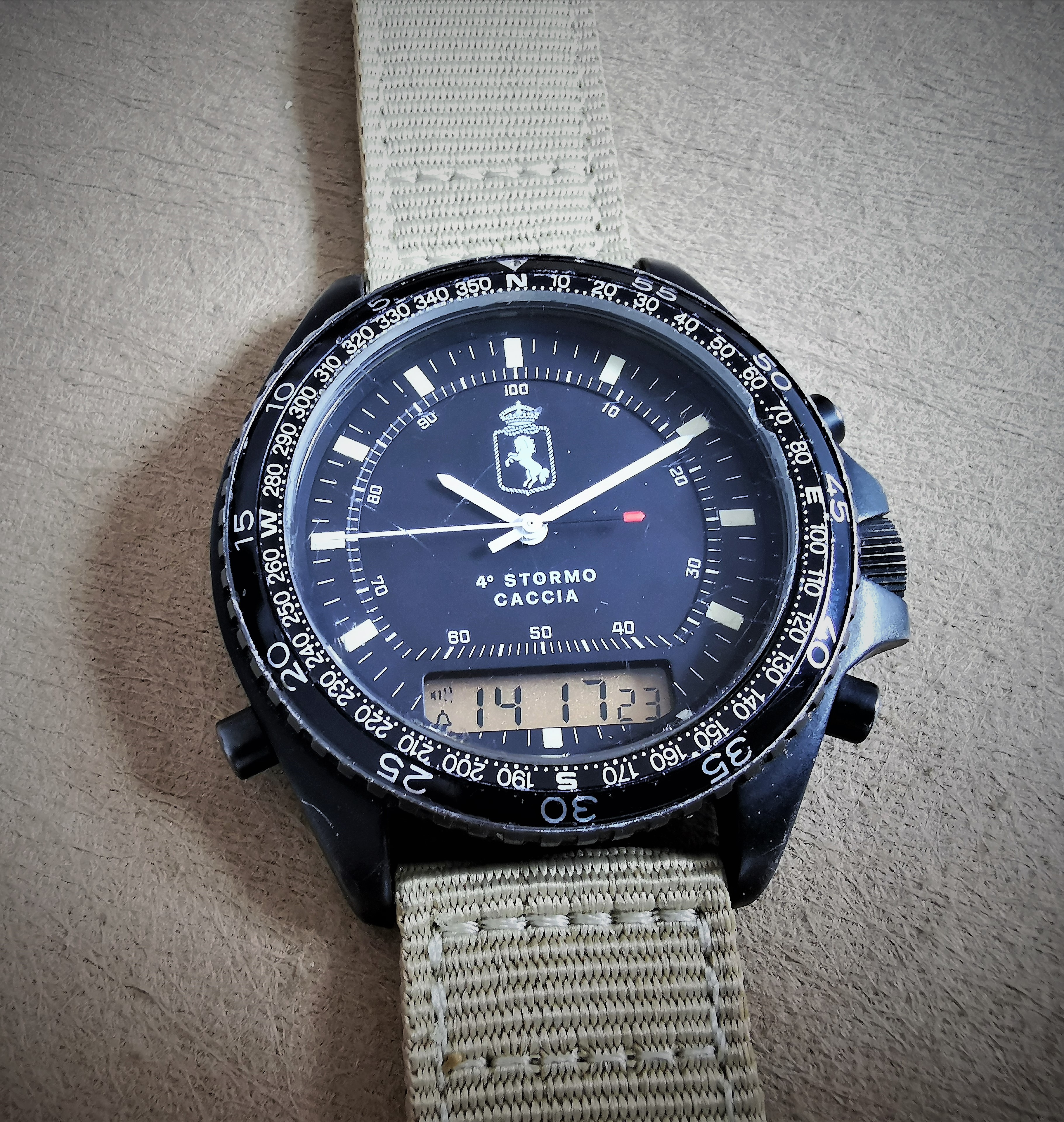 """Anonimo DPW (Diving Pace Watches) """"Chrono Flight"""" based on Breitling Navitimer Quartz 3100 (ref. 80191) 4th Fighter Wing   San Giorgio a Cremano"""