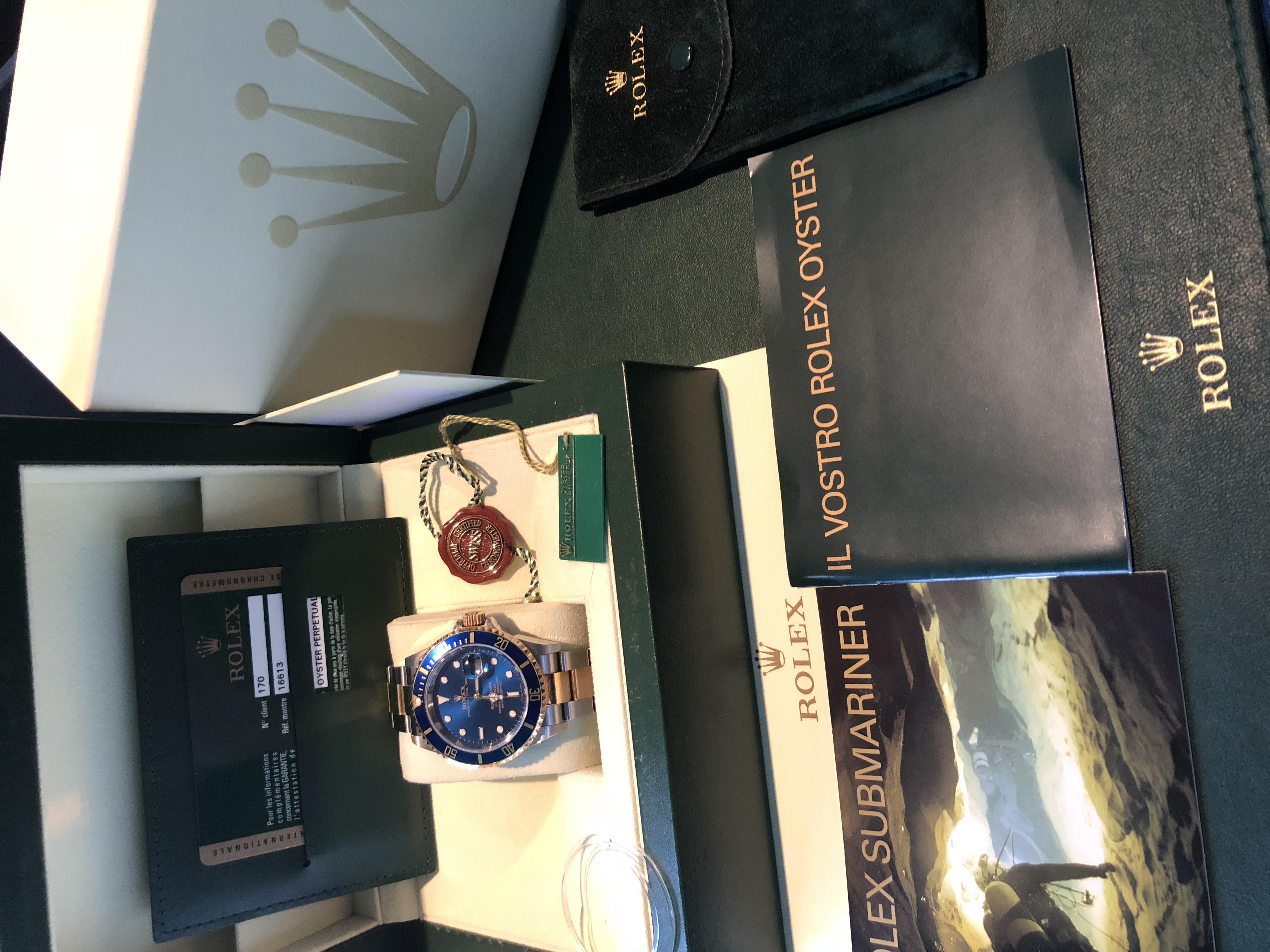 Rolex Submariner Date Acc/oro quadrante blu | Genova
