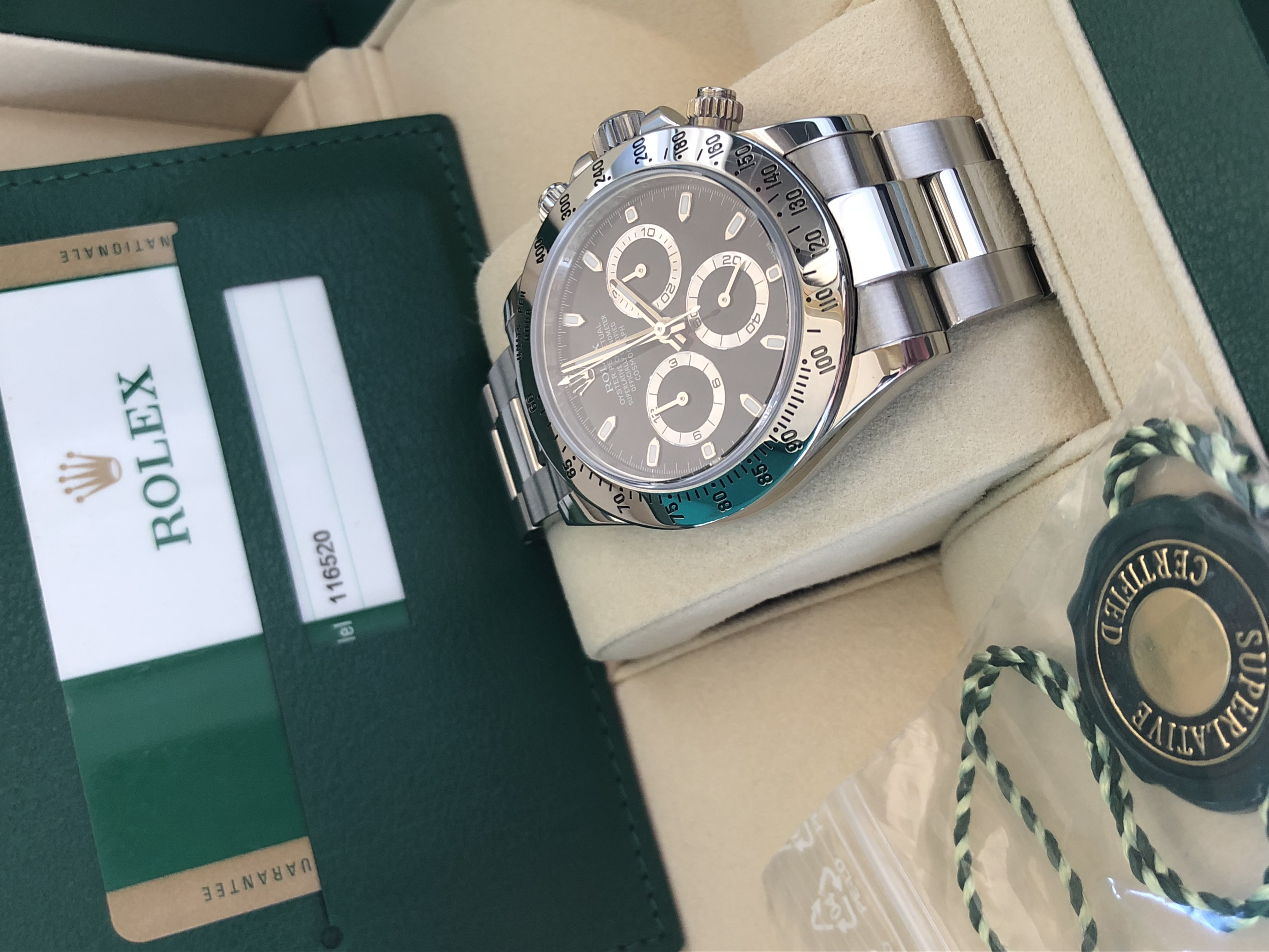 Rolex Chronograph Daytona 116520 Chromalight Dial | Genova